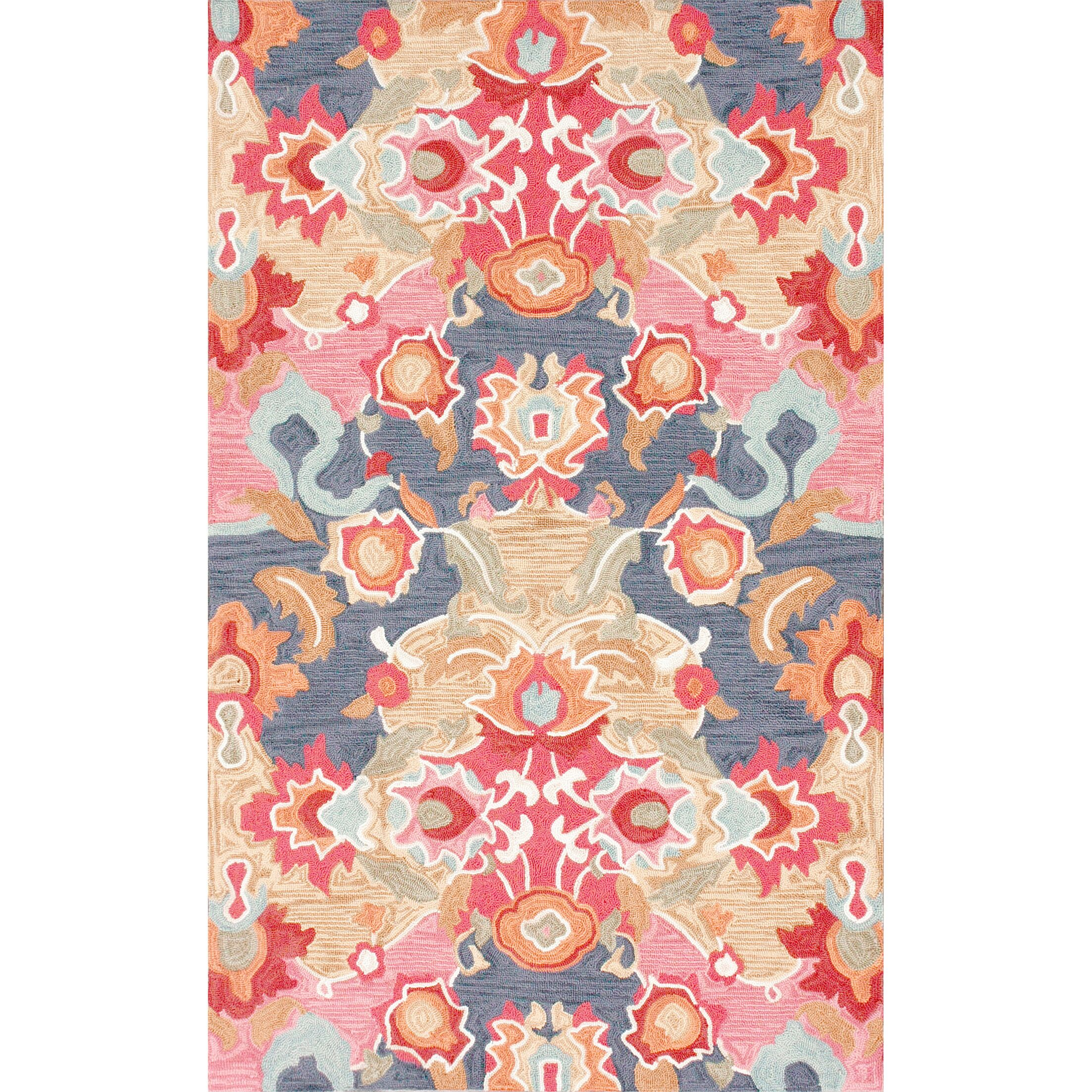 Maastricht Blue/Red Area Rug Rug Size: Rectangle 5' x 8'