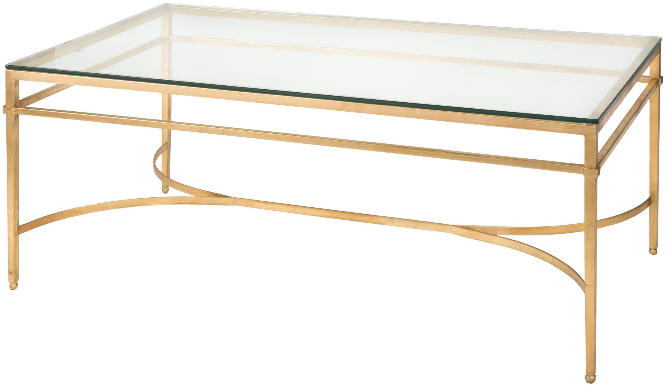 Reynaldo Coffee Table Base Color: Antique Gold Gilt