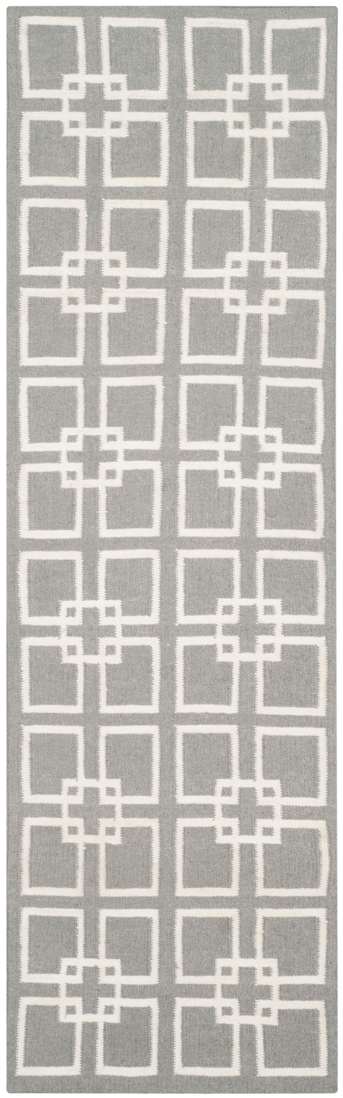 Dance Flat Weave Cement Gray Area Rug Rug Size: Runner 2'3