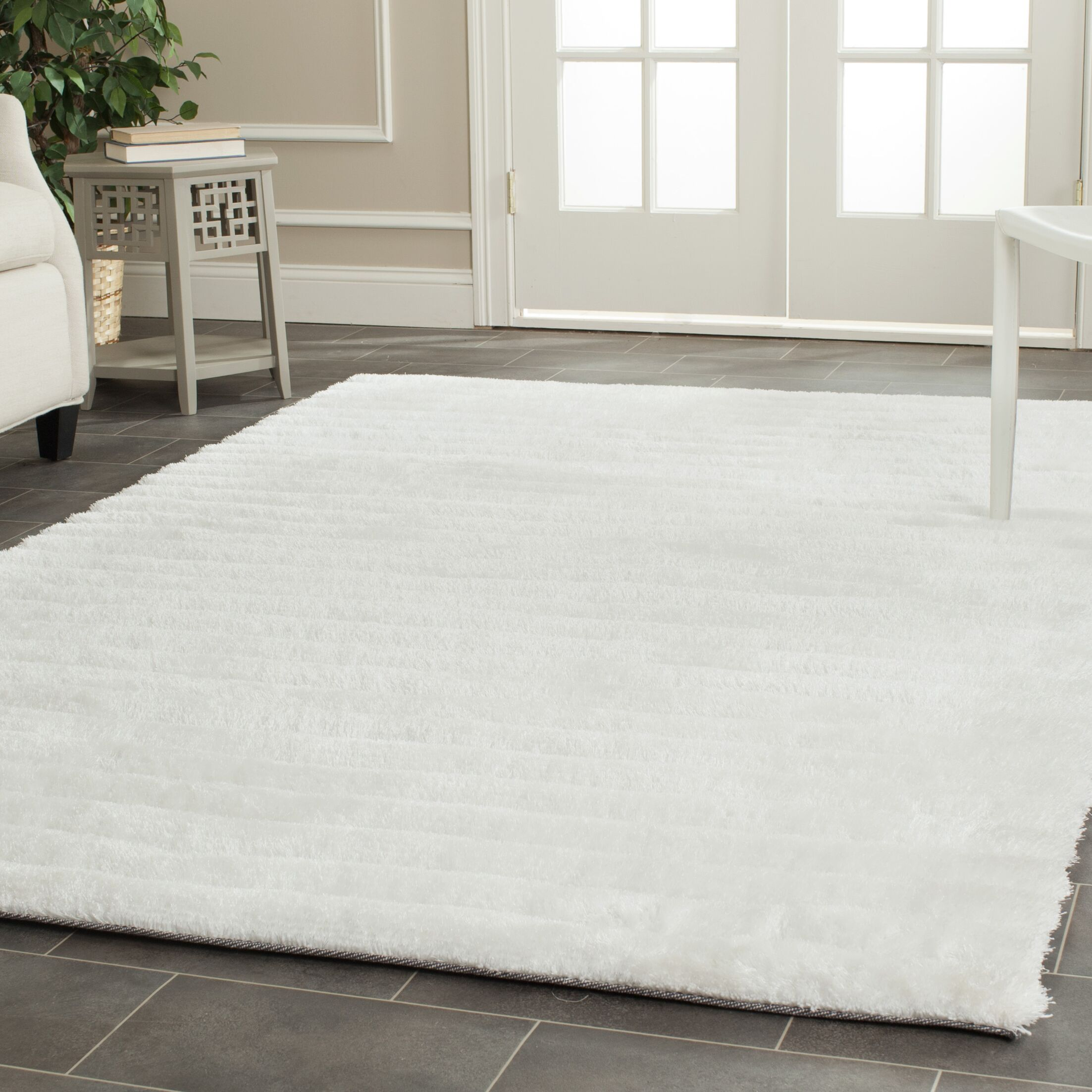 Wyler Hand-Tufted Pearl Area Rug Rug Size: Round 6'