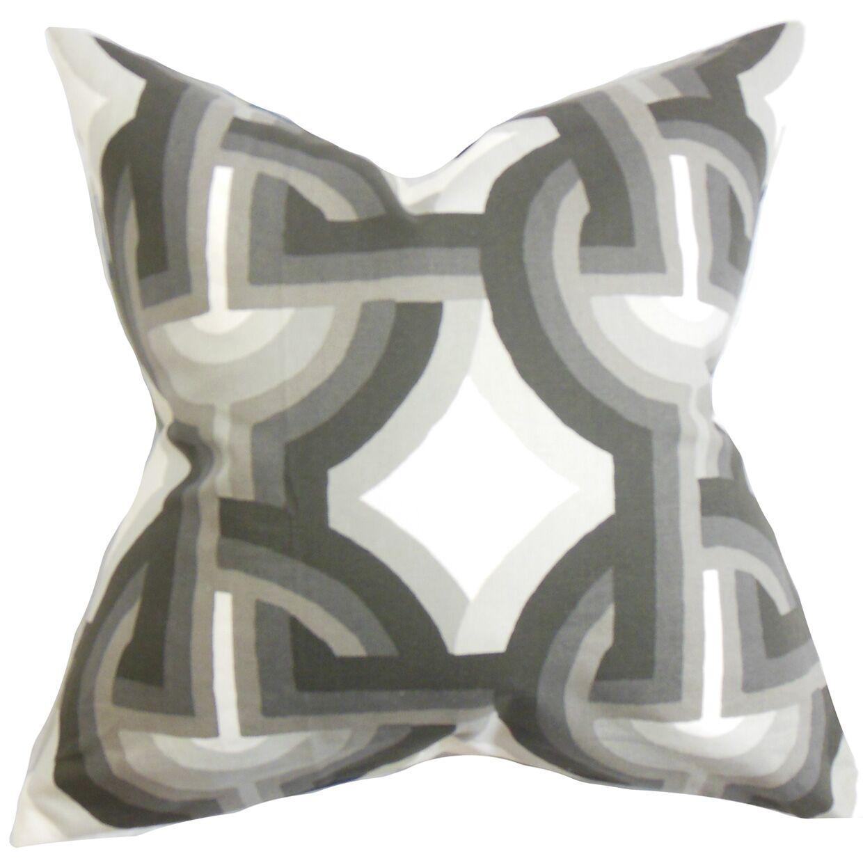 Westerlo Geometric Bedding Sham Size: Standard, Color: Gray/White