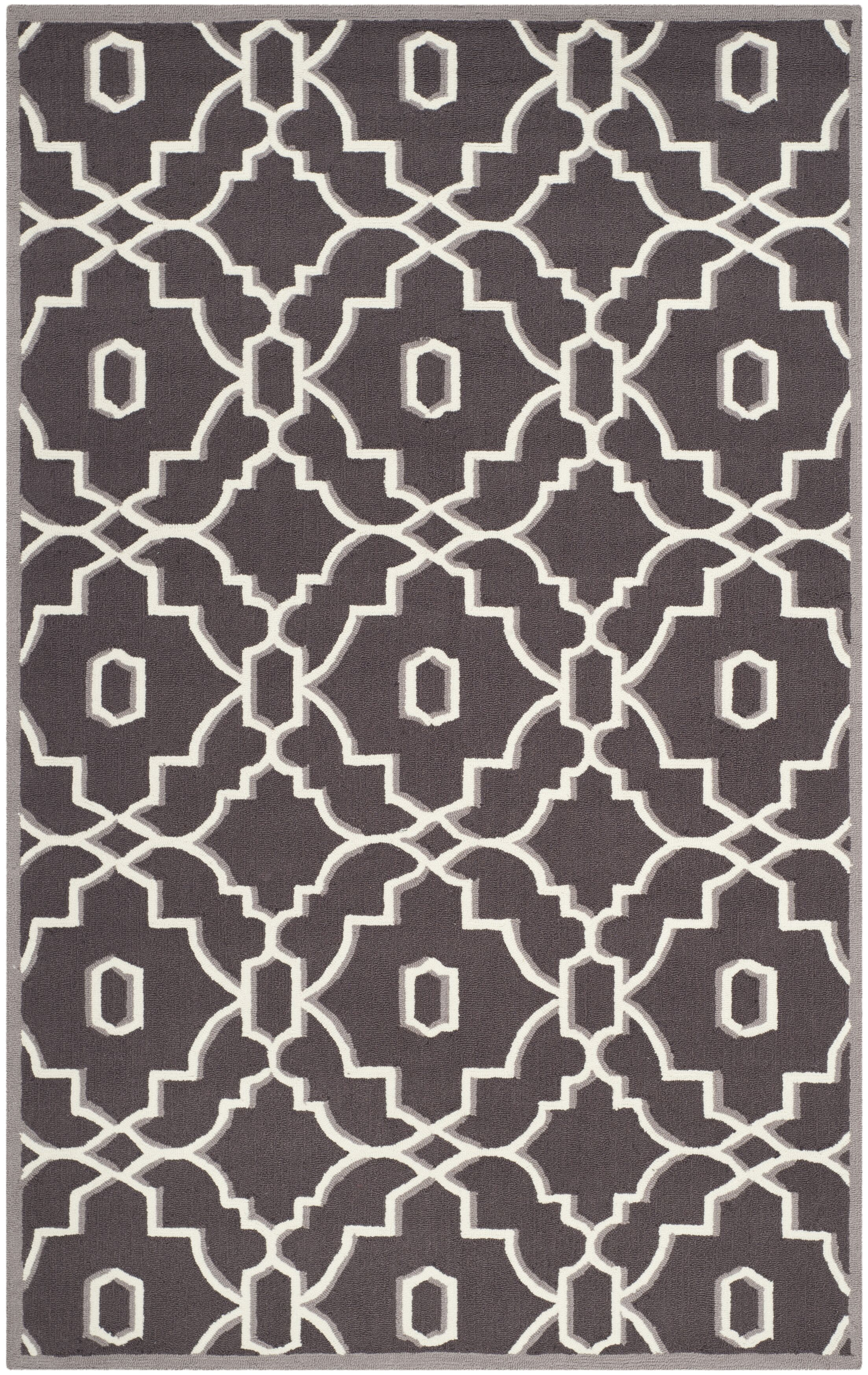 Dwight Dark Gray/Ivory Area Rug Rug Size: Rectangle 8' x 10'
