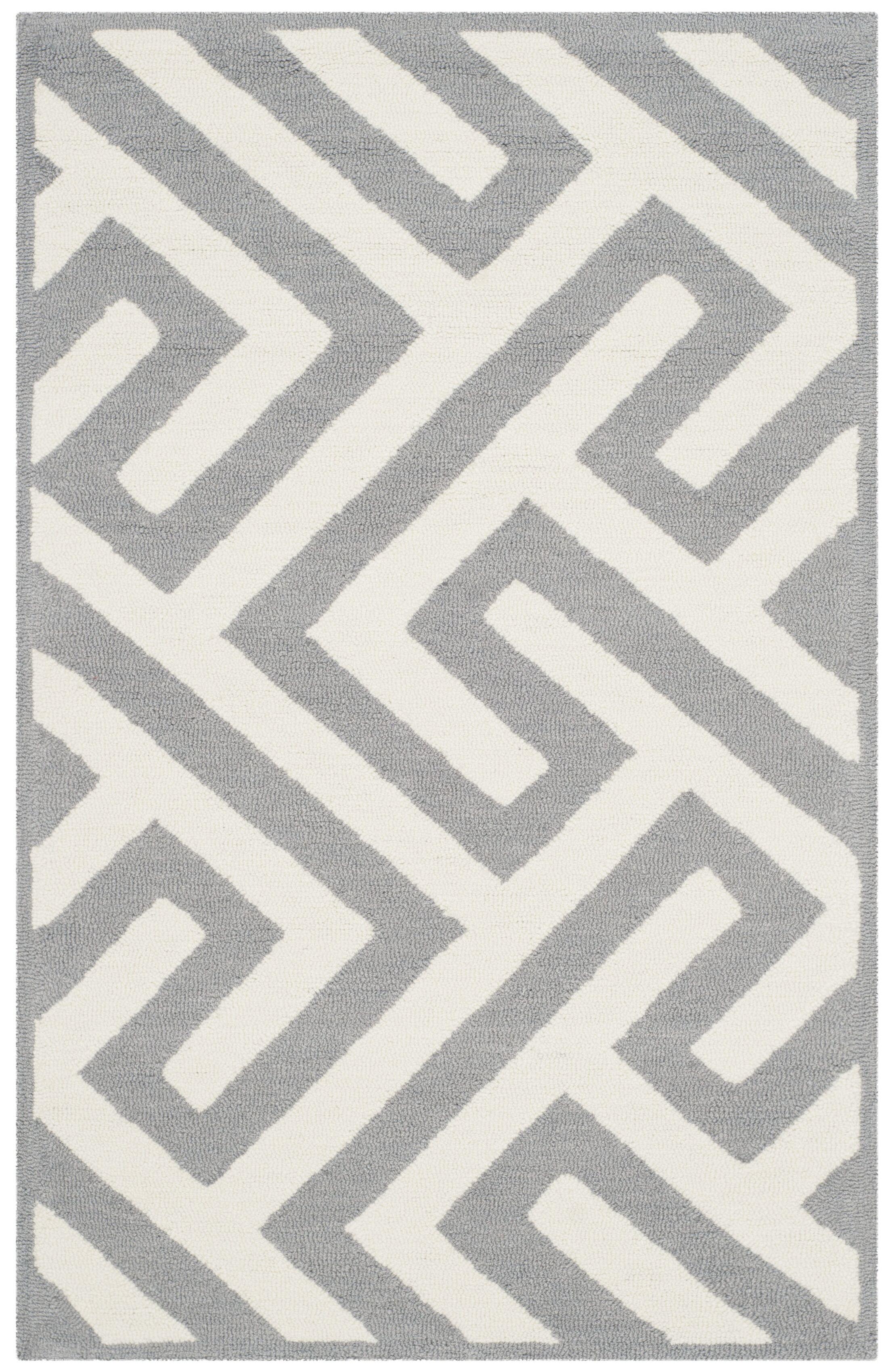 Daniella Ivory/Gray Area Rug Rug Size: Rectangle 8' x 10'