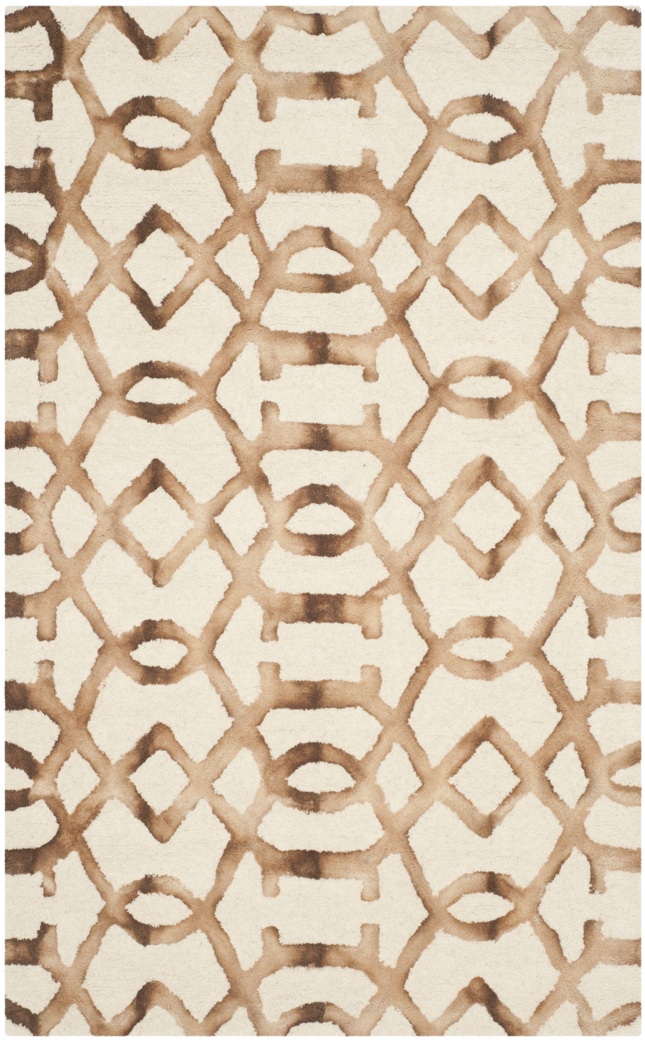 Owen Ivory/Camel Area Rug Rug Size: Rectangle 3' x 5'