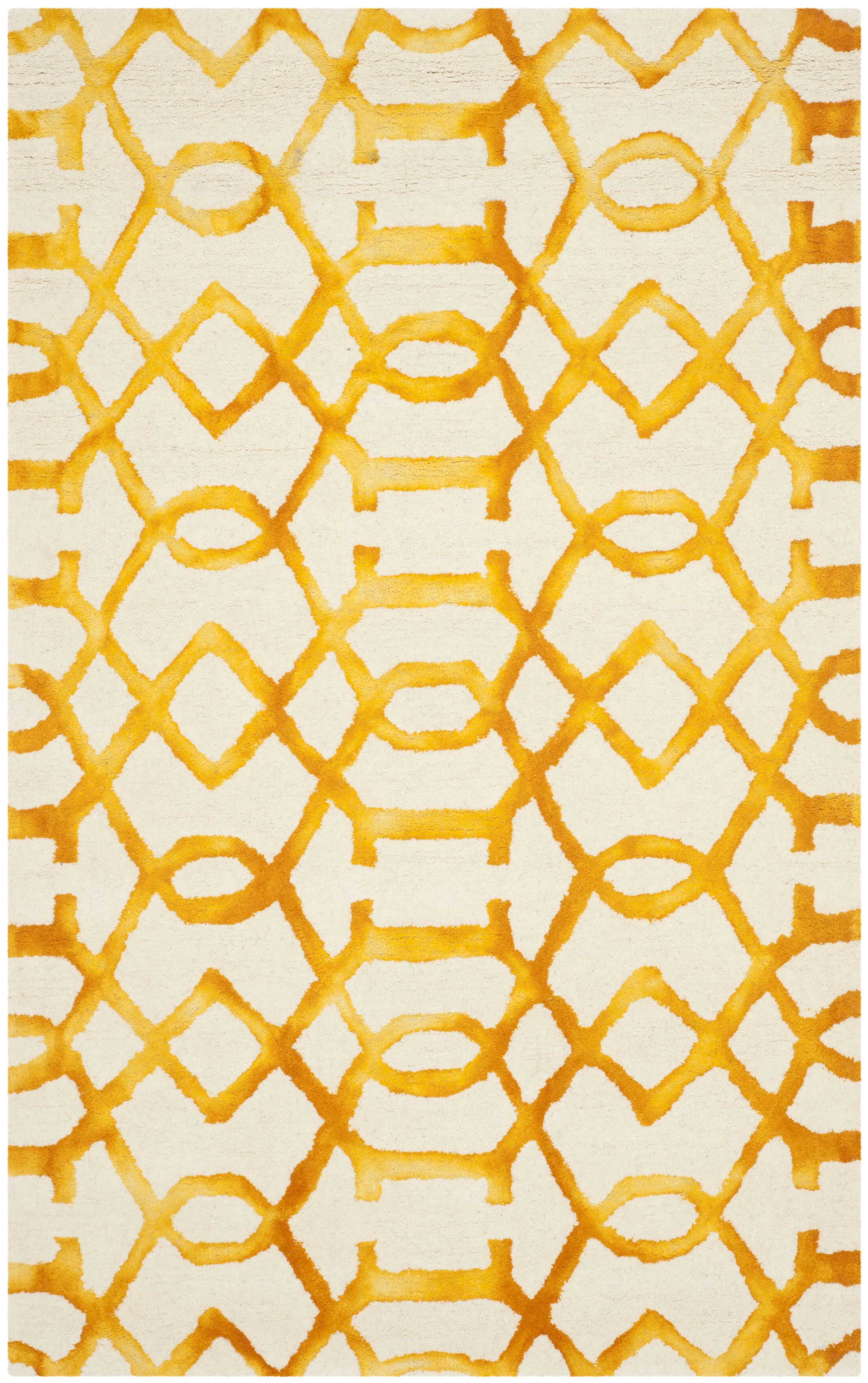 Sinclair Ivory/Gold Area Rug Rug Size: Rectangle 9' x 12'