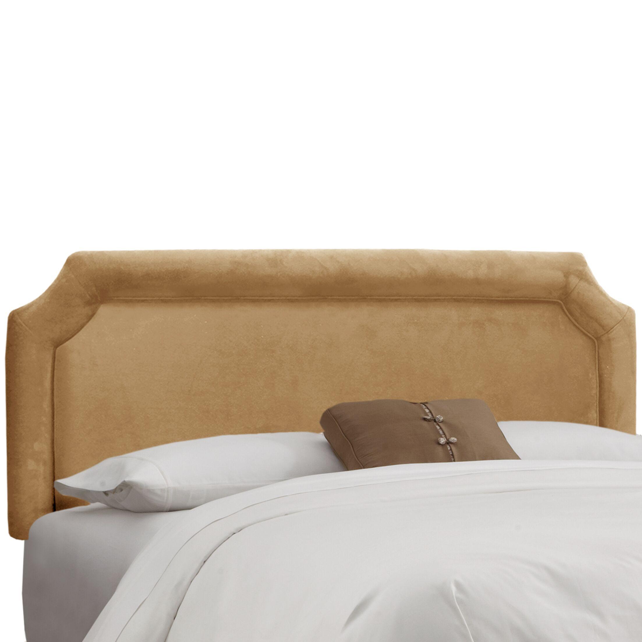 Amber Upholstered Panel Headboard Upholstery: Premier Saddle, Size: Twin