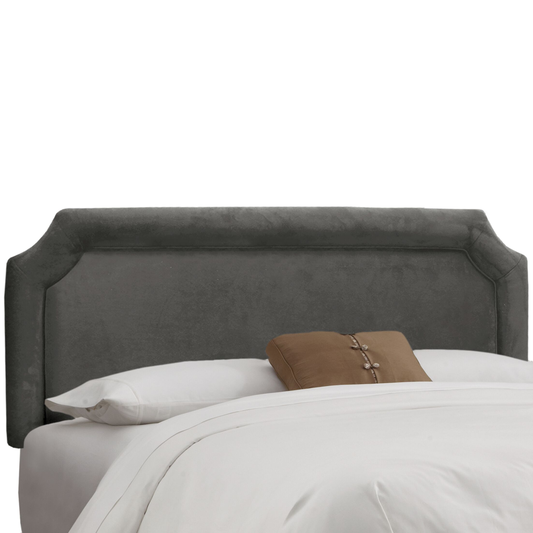 Amber Upholstered Panel Headboard Upholstery: Premier Charcoal, Size: Twin