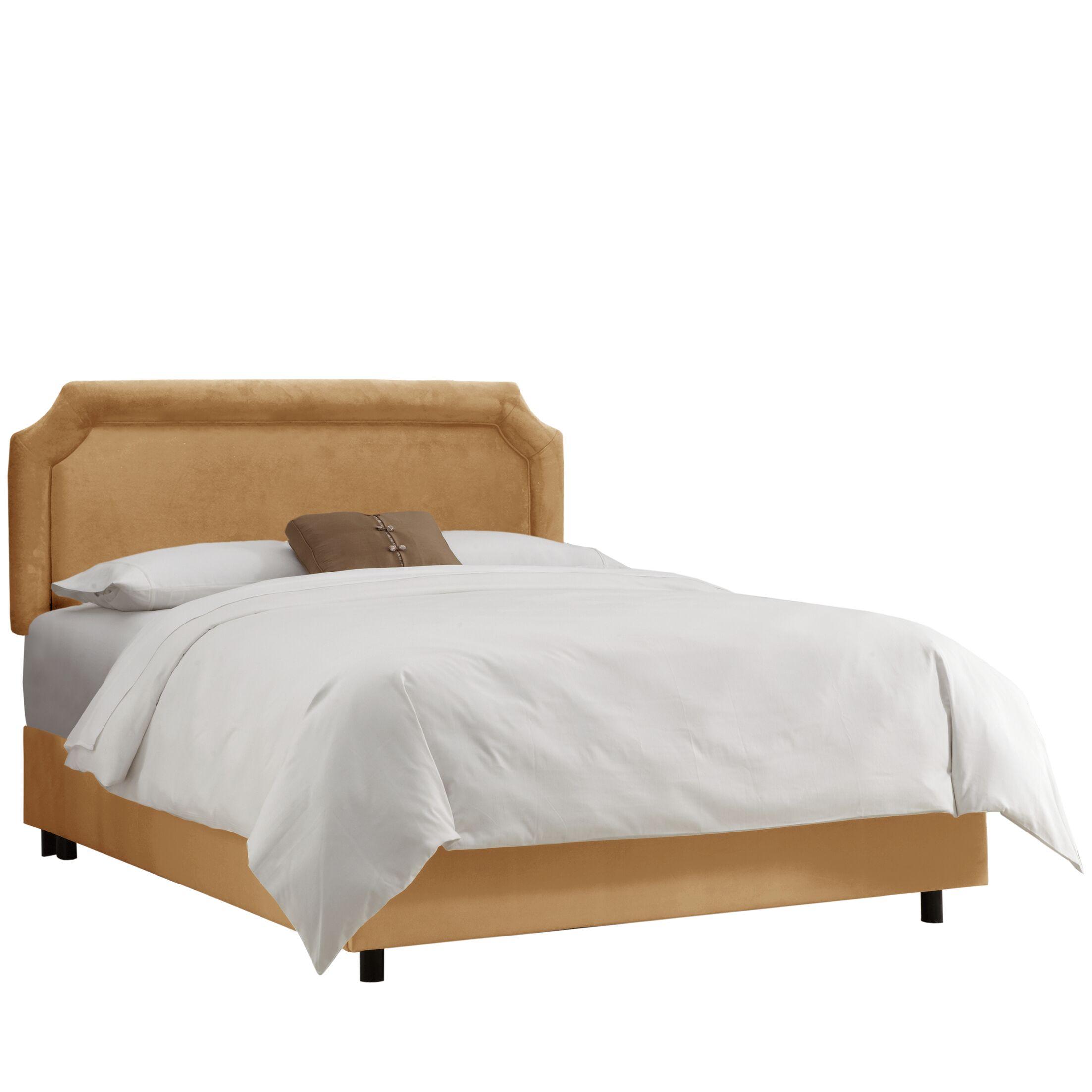 Eibhlin Upholstered Panel Bed Color: Velvet Honey, Size: King