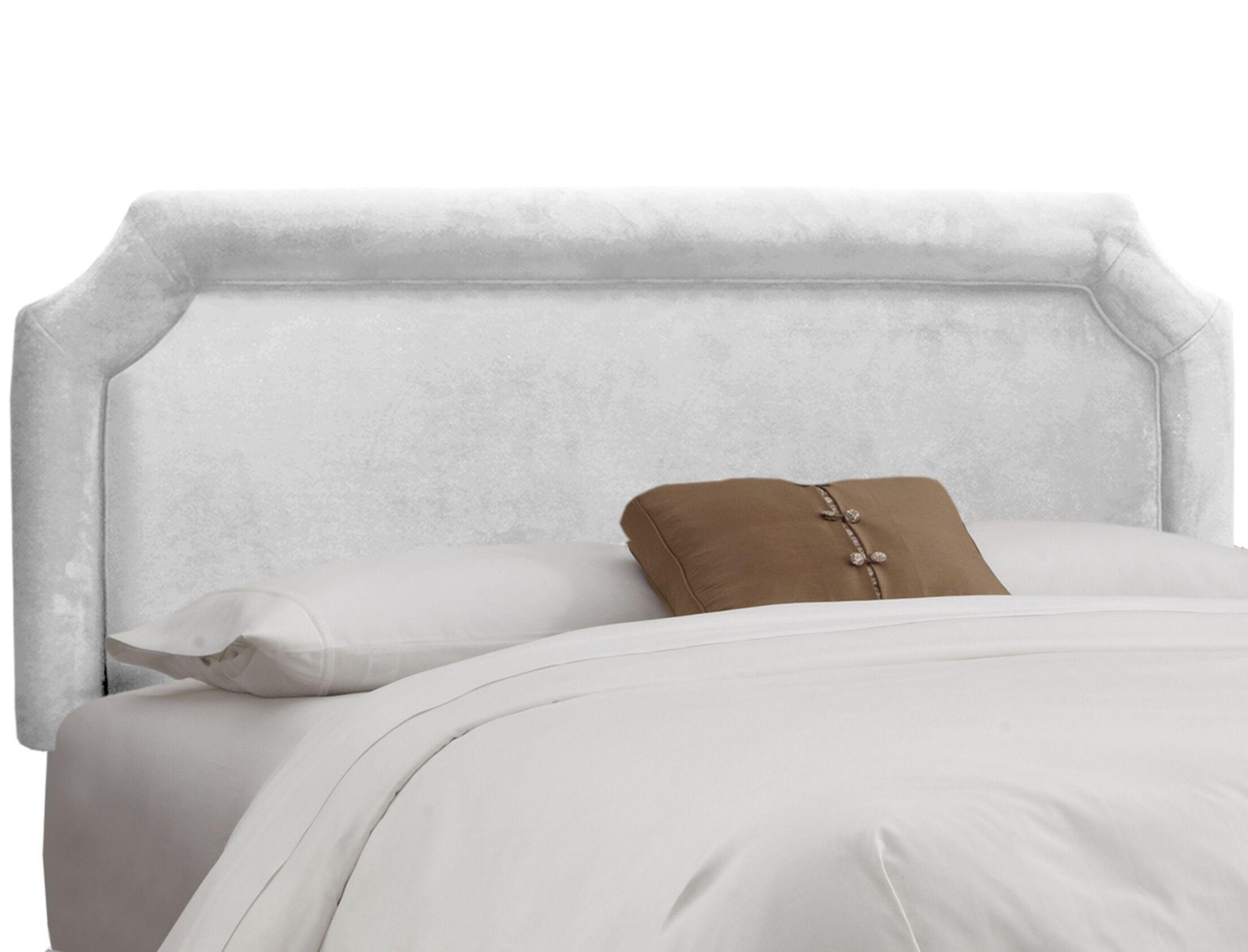 Fairview Upholstered Panel Headboard Upholstery: Velvet White, Size: Twin