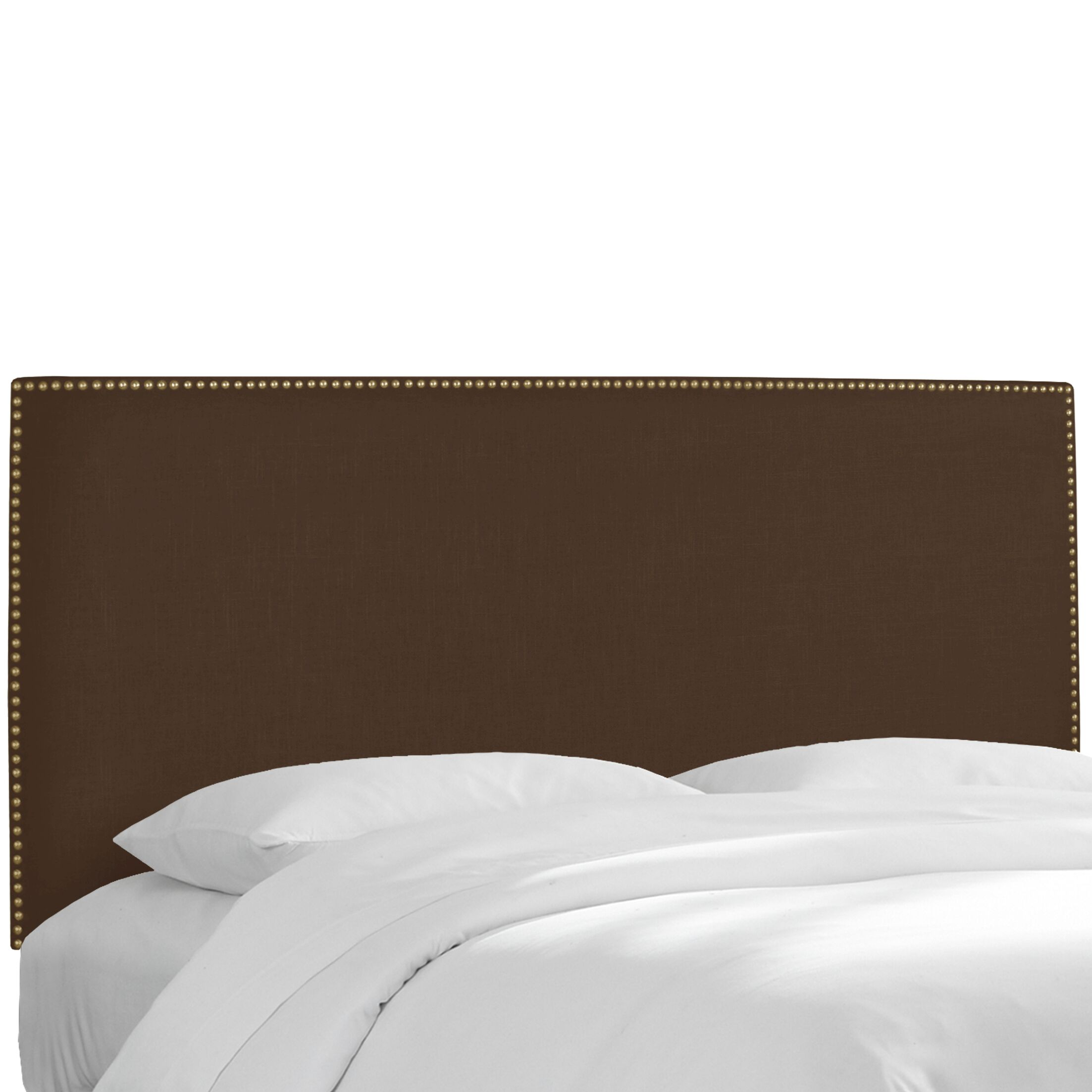 Pine Island Twill Upholstered Panel Headboard Upholstery: Twill Chocolate, Size: Full