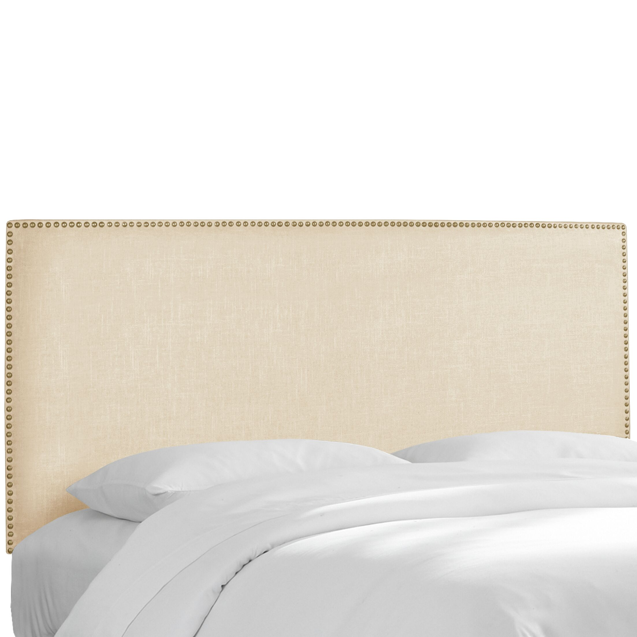 Pine Island Twill Upholstered Panel Headboard Upholstery: Twill Natural, Size: King