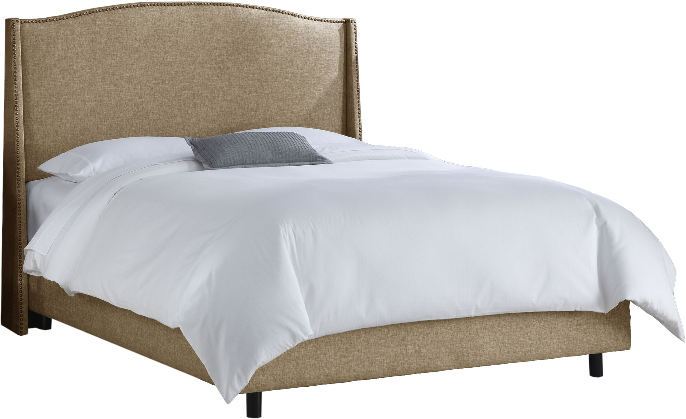 Nealon Upholstered Panel Bed Size: King, Color: Polyester - Groupie Gunmetal