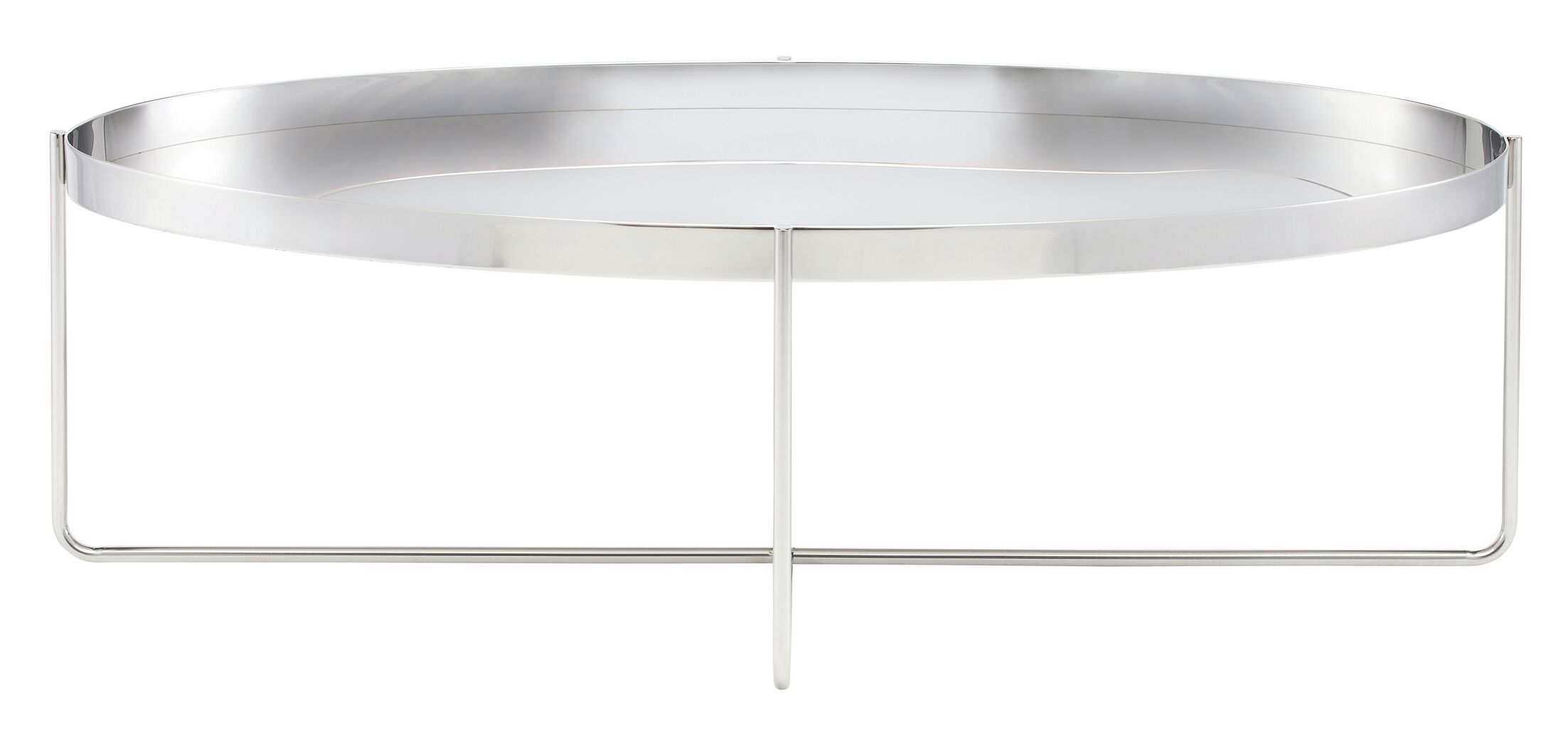 Roseman Coffee Table with Tray Top Color: Silver