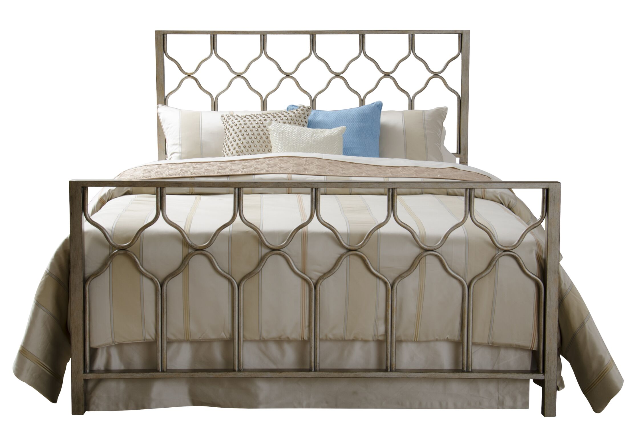 Hasse Panel Bed Size: Queen, Color: Brushed Gold