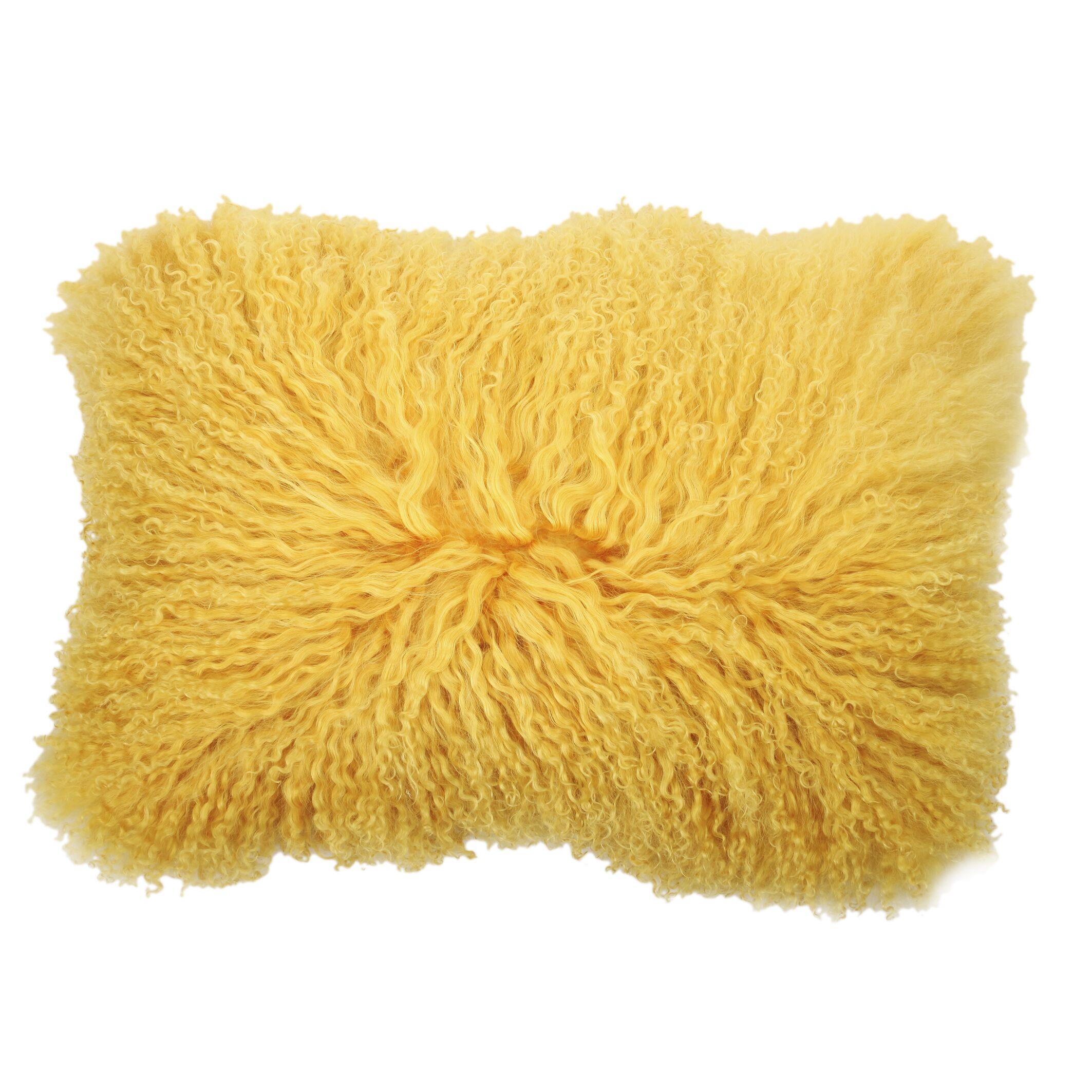 Graham Rectangular Throw Pillow Color: Yellow