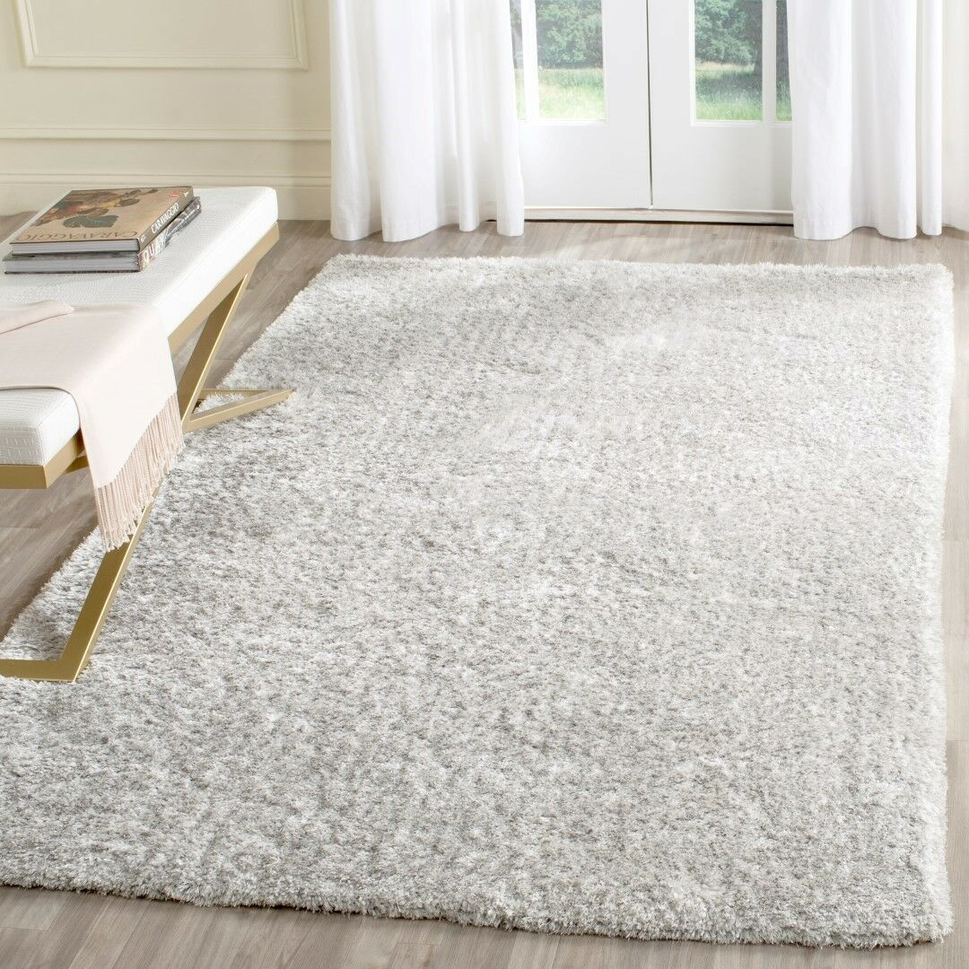 Aston Hand-Tufted Light Gray Area Rug Rug Size: Rectangle 5' x 8'