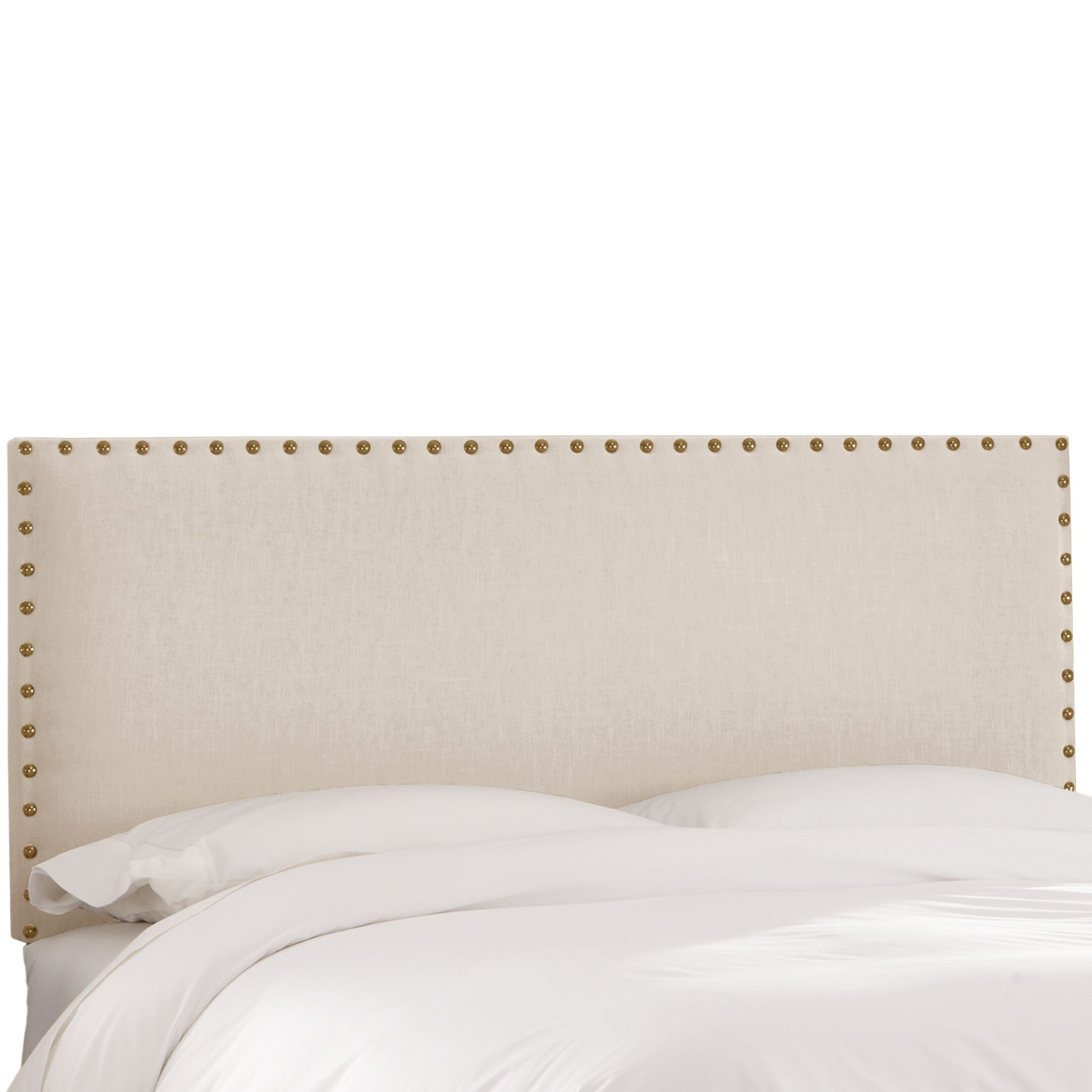 Upholstered Panel Headboard Upholstery: Talc, Size: Twin