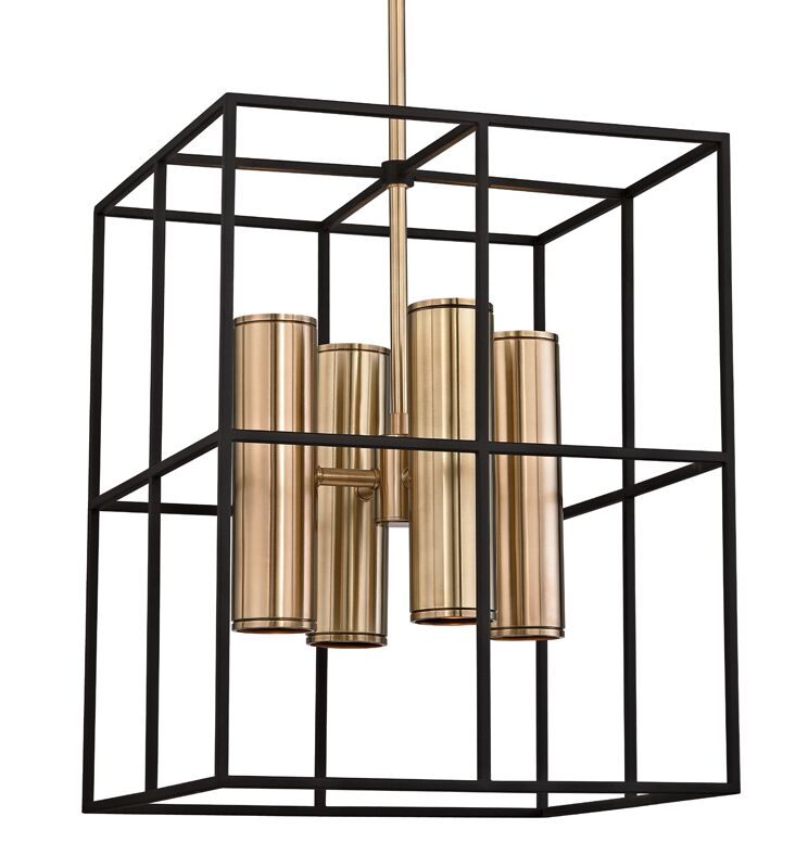 Veronica 8-Light Square/Rectangle Chandelier Finish: Aged Brass