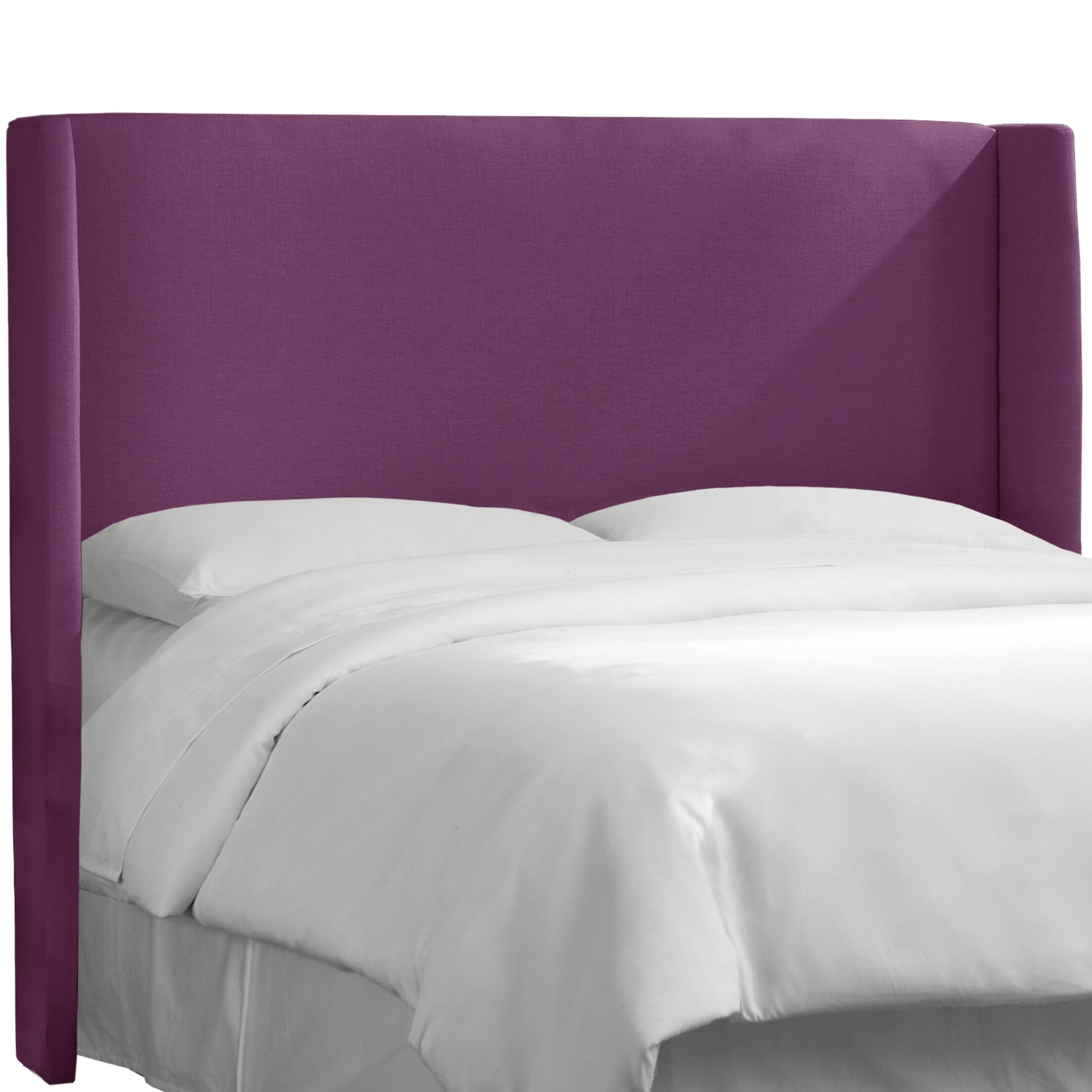 Dion Wingback Headboard Size: Queen, Upholstery: Klein Fig