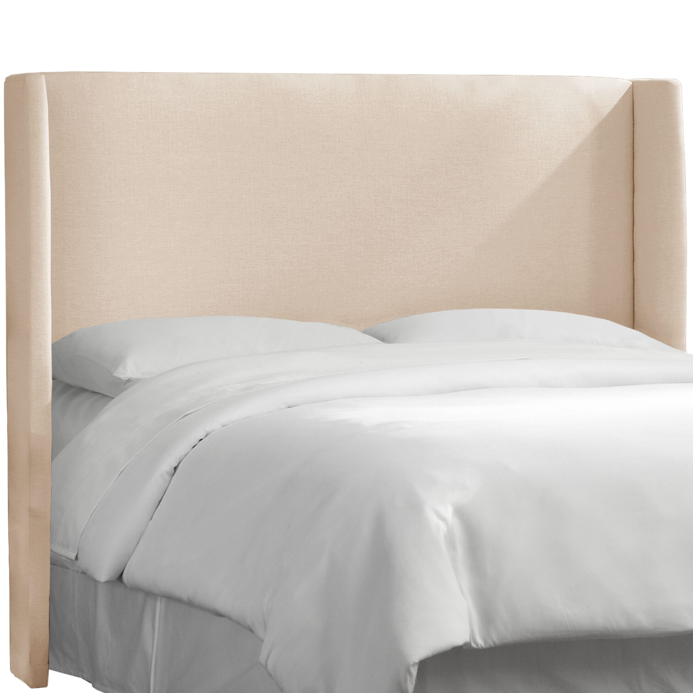 Dion Wingback Headboard Size: Queen, Upholstery: Klein Ivory