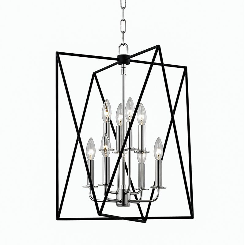 Fitz 8-Light Square/Rectangle Chandelier Size: 22.5