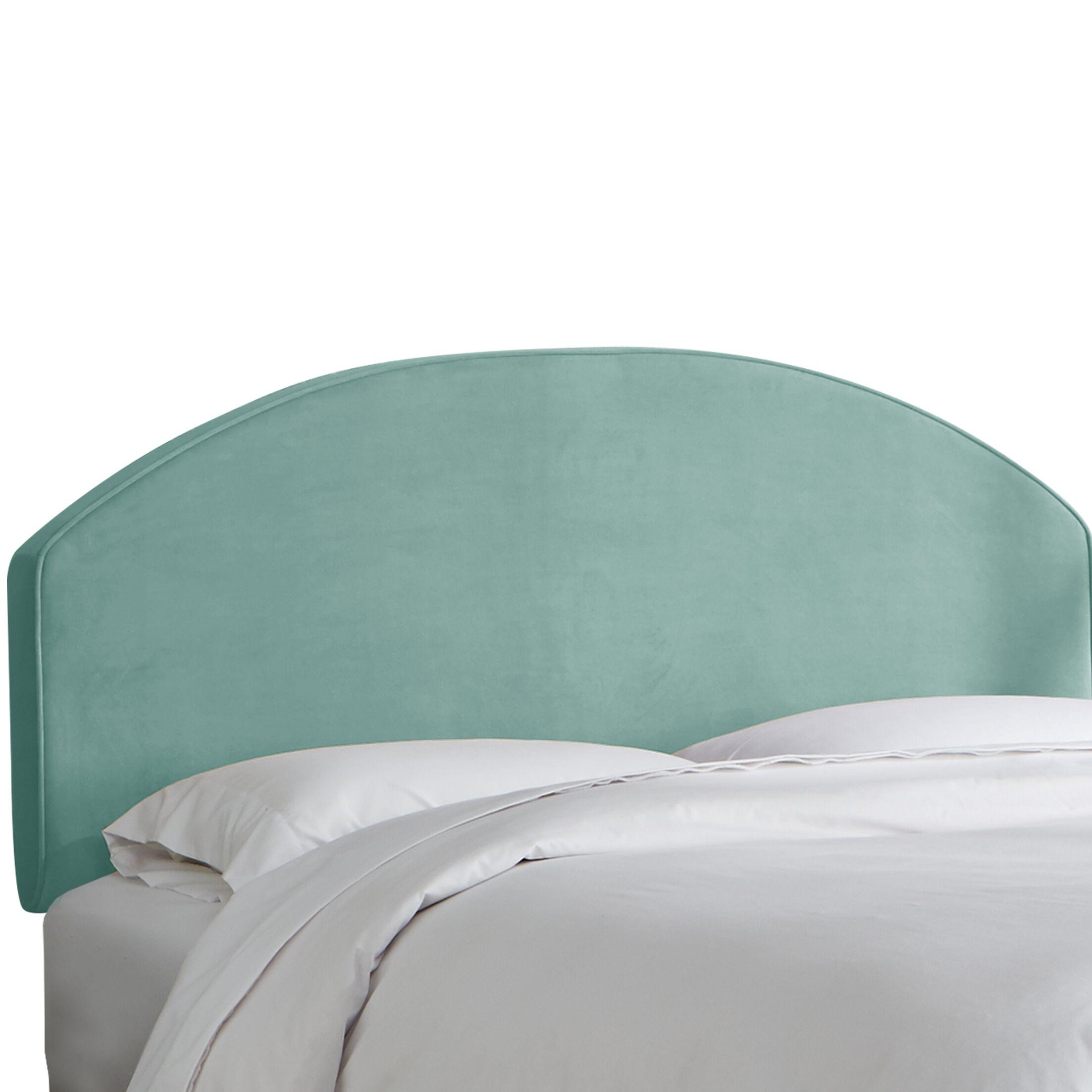 Chanler Velvet Upholstered Panel Headboard Upholstery Color: Caribbean, Size: Queen