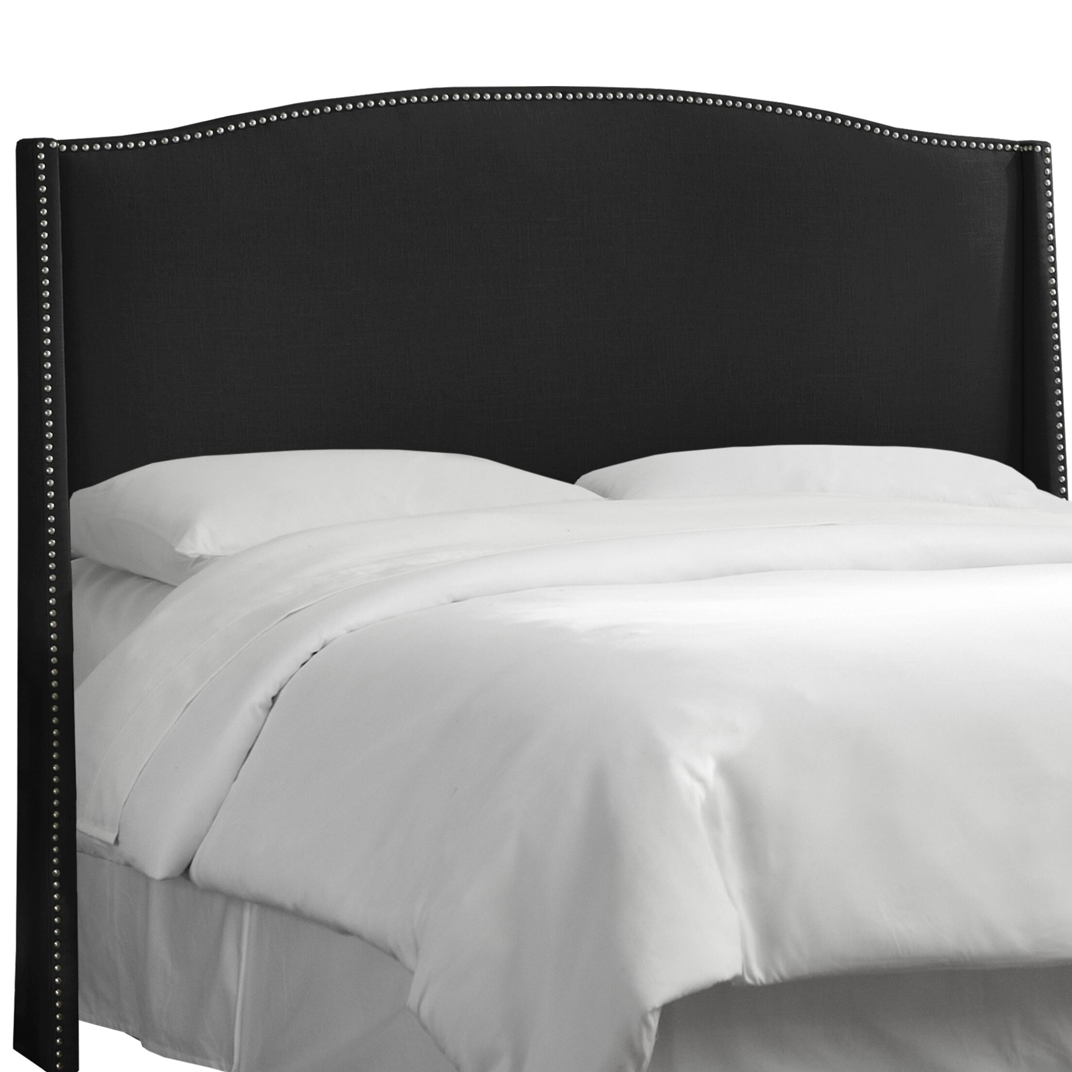 Adamczyk Wingback Headboard Size: Full, Upholstery Color: Black