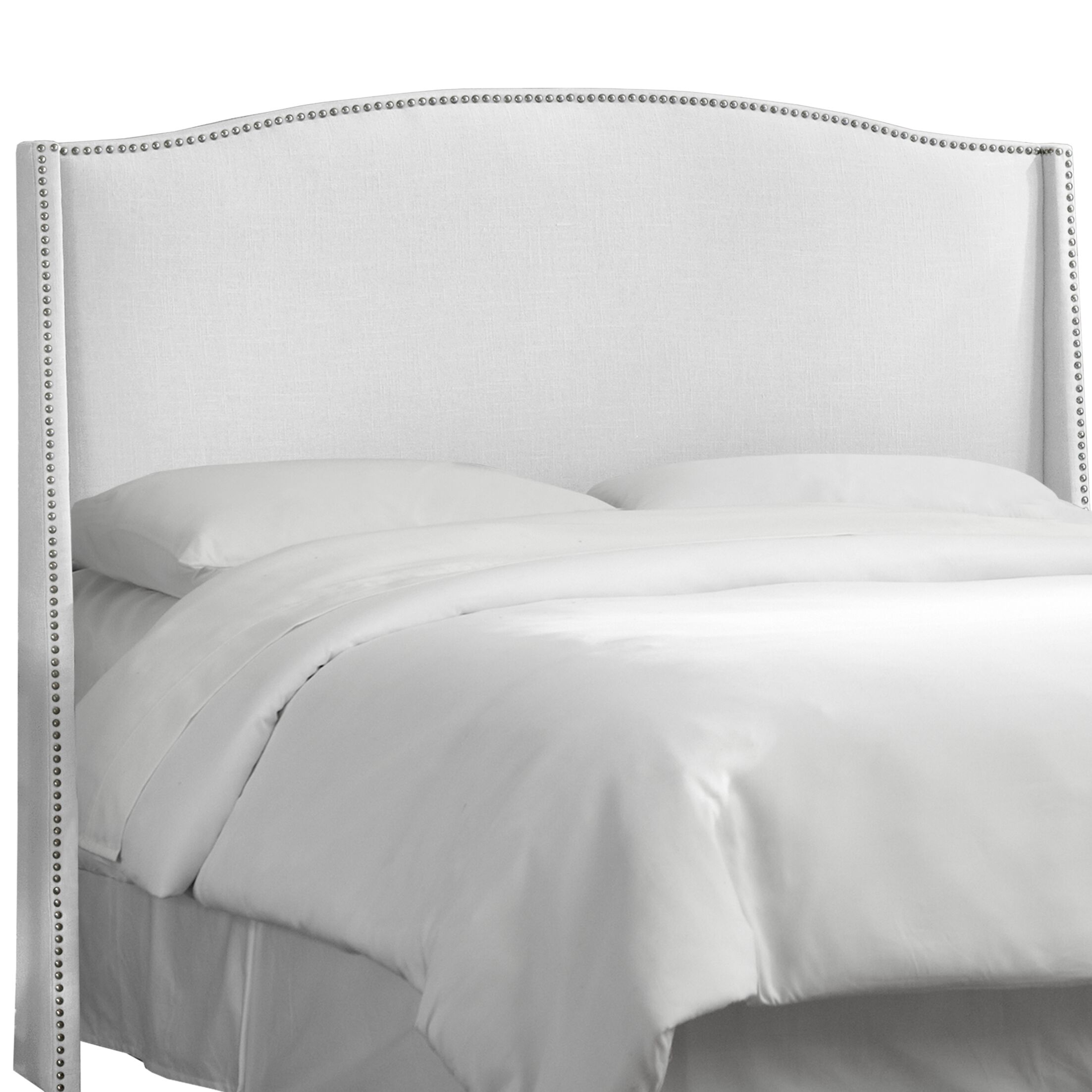Adamczyk Wingback Headboard Size: Full, Upholstery Color: White