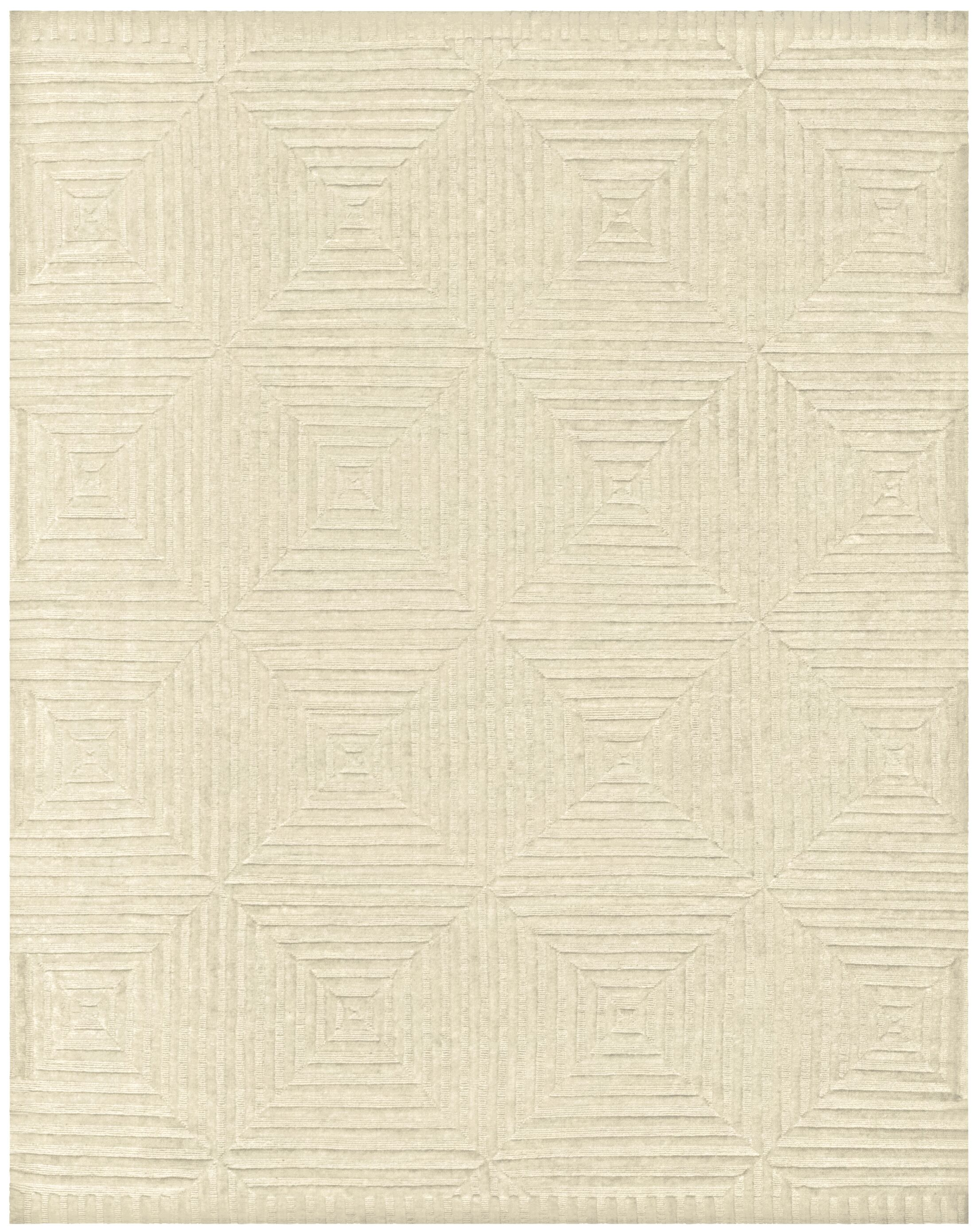 Lapis Hand-Knotted Ivory Area Rug Rug Size: Rectangle 4' x 6'