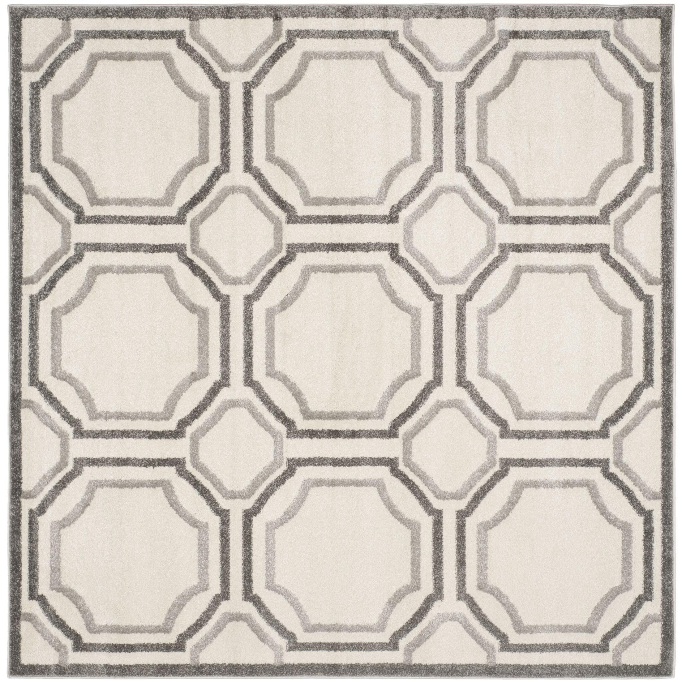 Maritza Ivory & Cream Area Rug Rug Size: Square 7'