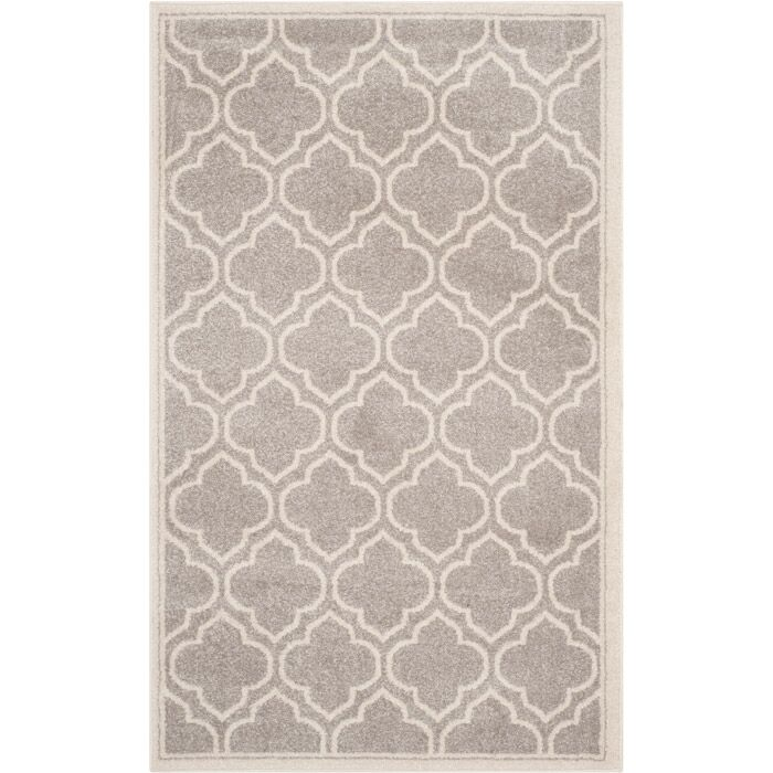 Maritza Gray/Ivory Indoor/Outdoor Area Rug Rug Size: Rectangle 11' x 16'