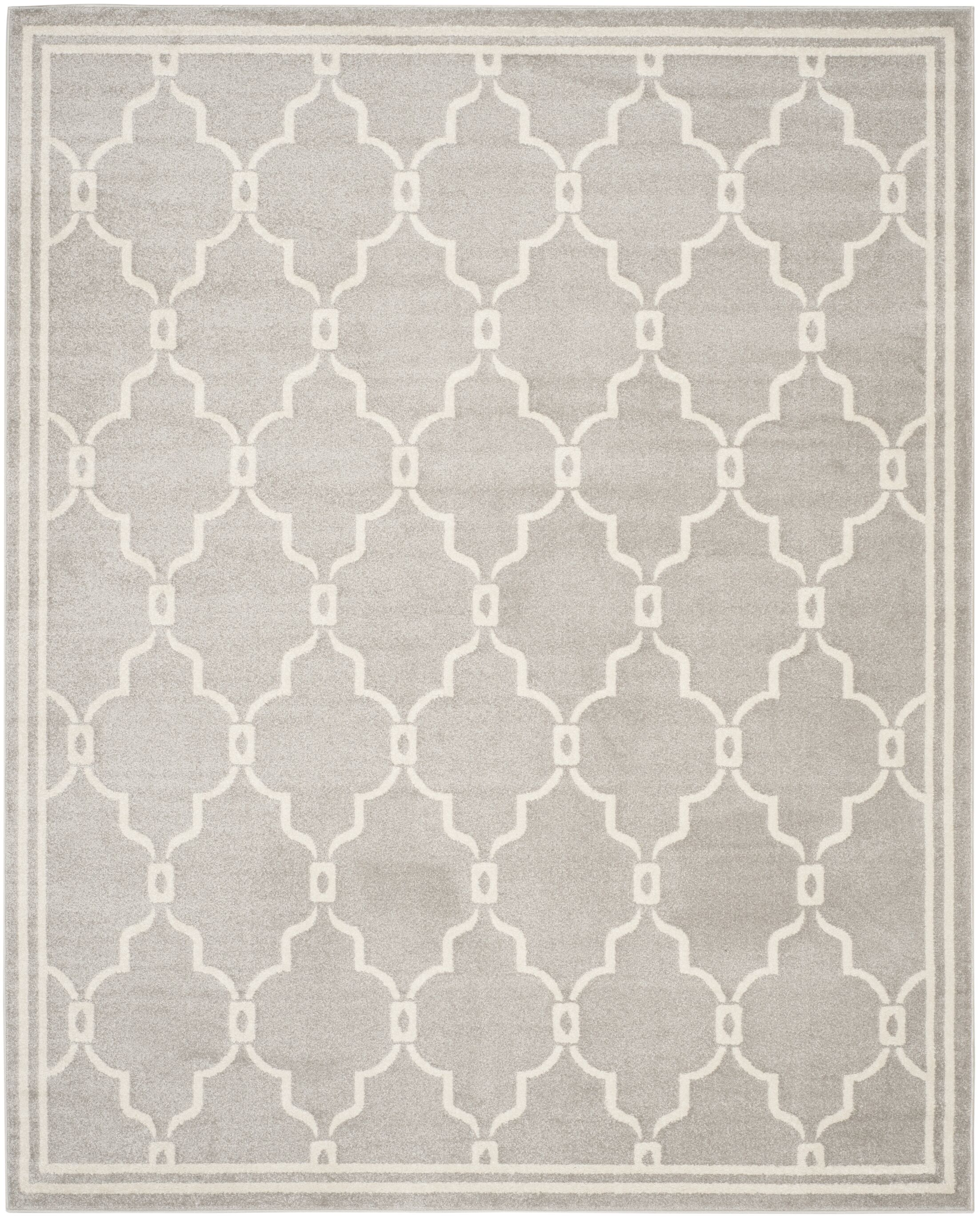Wason Light Gray/Ivory Indoor/Outdoor Area Rug Rug Size: Rectangle 10' x 14'
