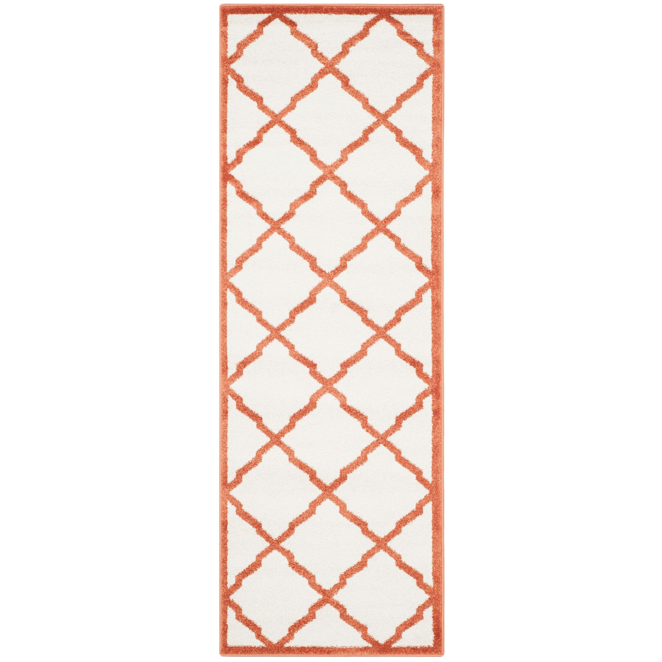 Maritza Beige/Orange Indoor/Outdoor Area Rug Rug Size: Runner 2'3