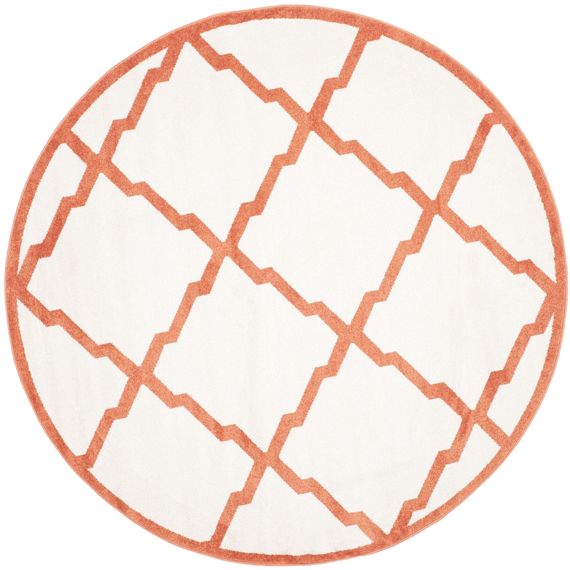 Maritza Beige/Orange Indoor/Outdoor Area Rug Rug Size: Rectangle 8' x 10'