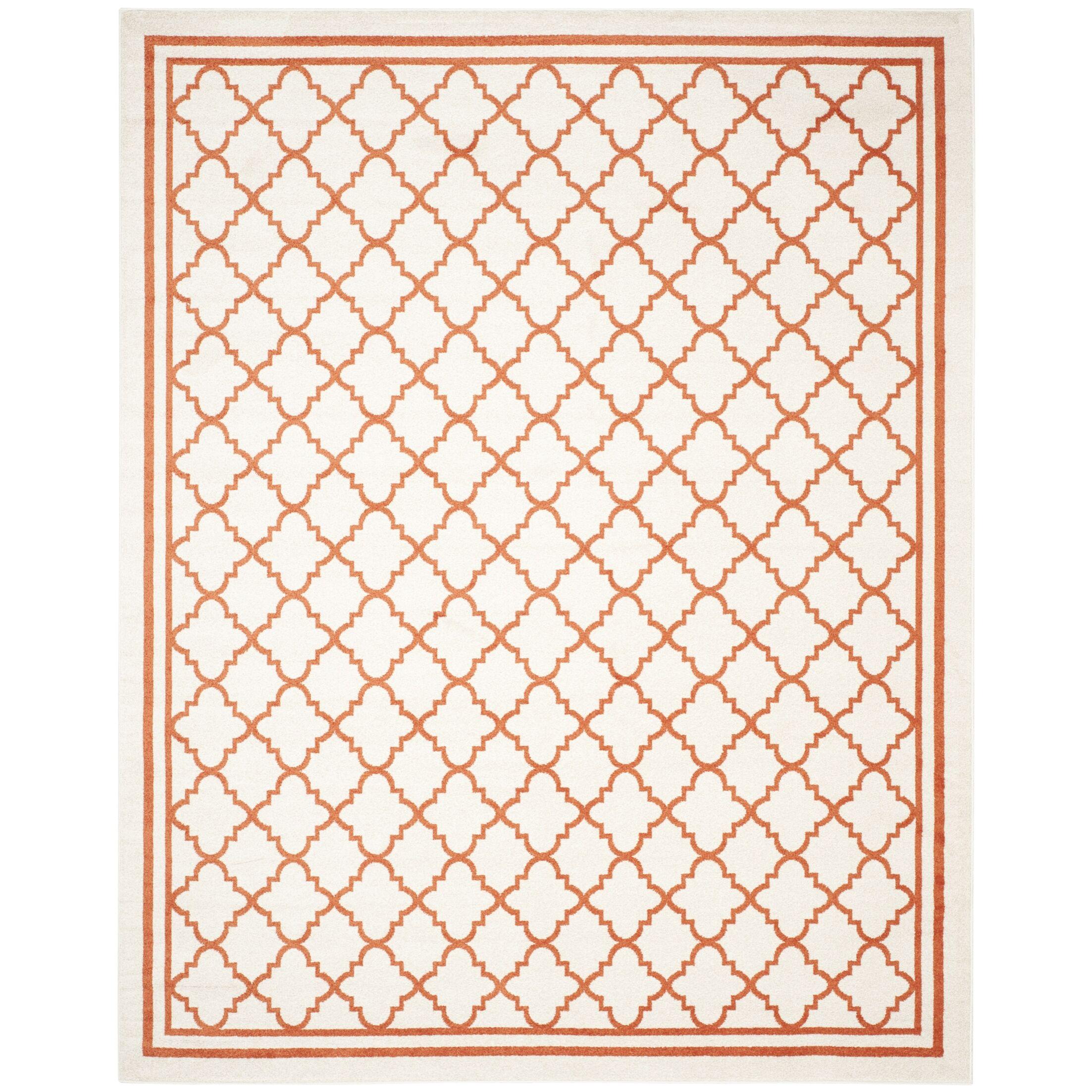 Maritza Beige/Orange Indoor/Outdoor Area Rug Rug Size: Rectangle 9' x 12'