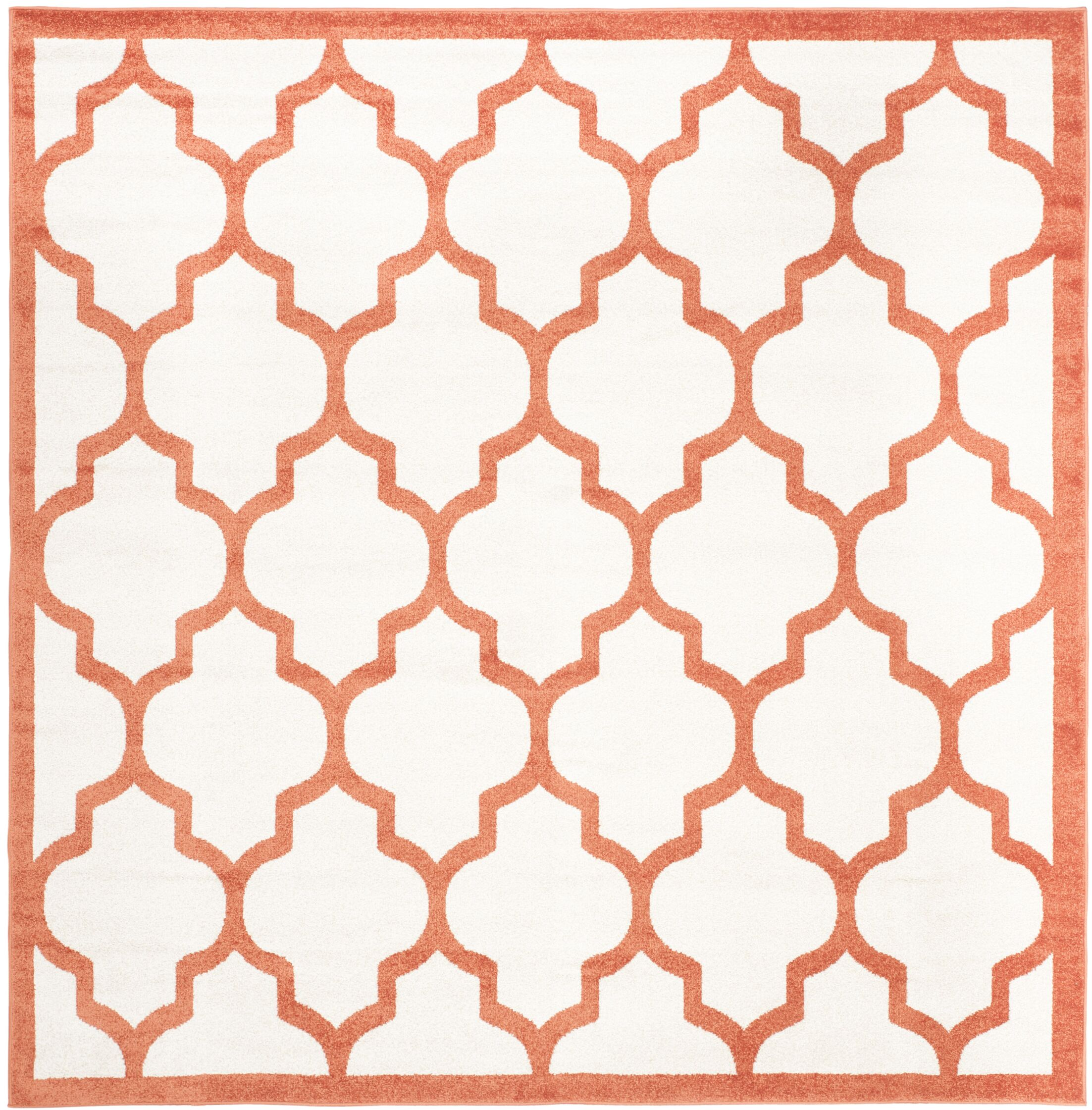 Maritza Beige/Orange Indoor/Outdoor Area Rug Rug Size: Square 7'