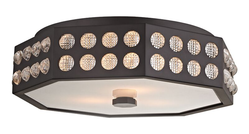 Emeraude 3-Light Semi Flush Mount Finish: Old Bronze