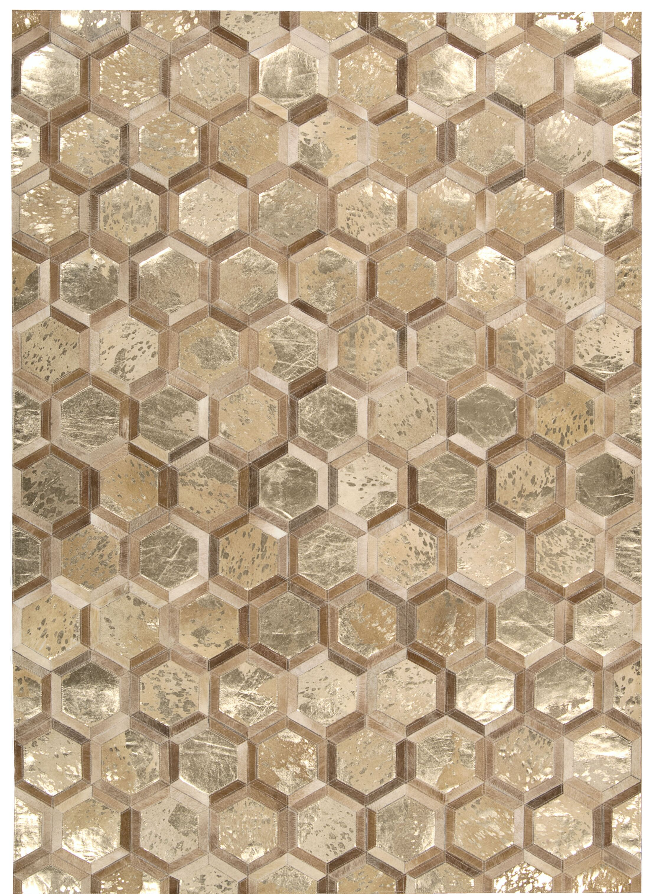 Abra Hand-Woven Gold Area Rug Rug Size: Rectangle 8' x 10'