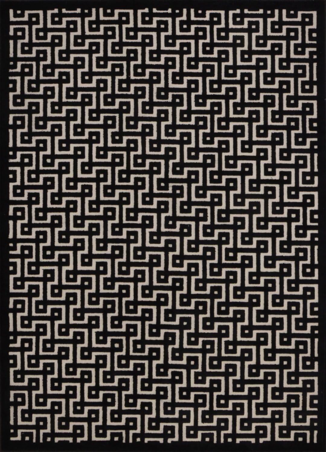 Blondelle Rectangle Black Area Rug Rug Size: Rectangle 5'3