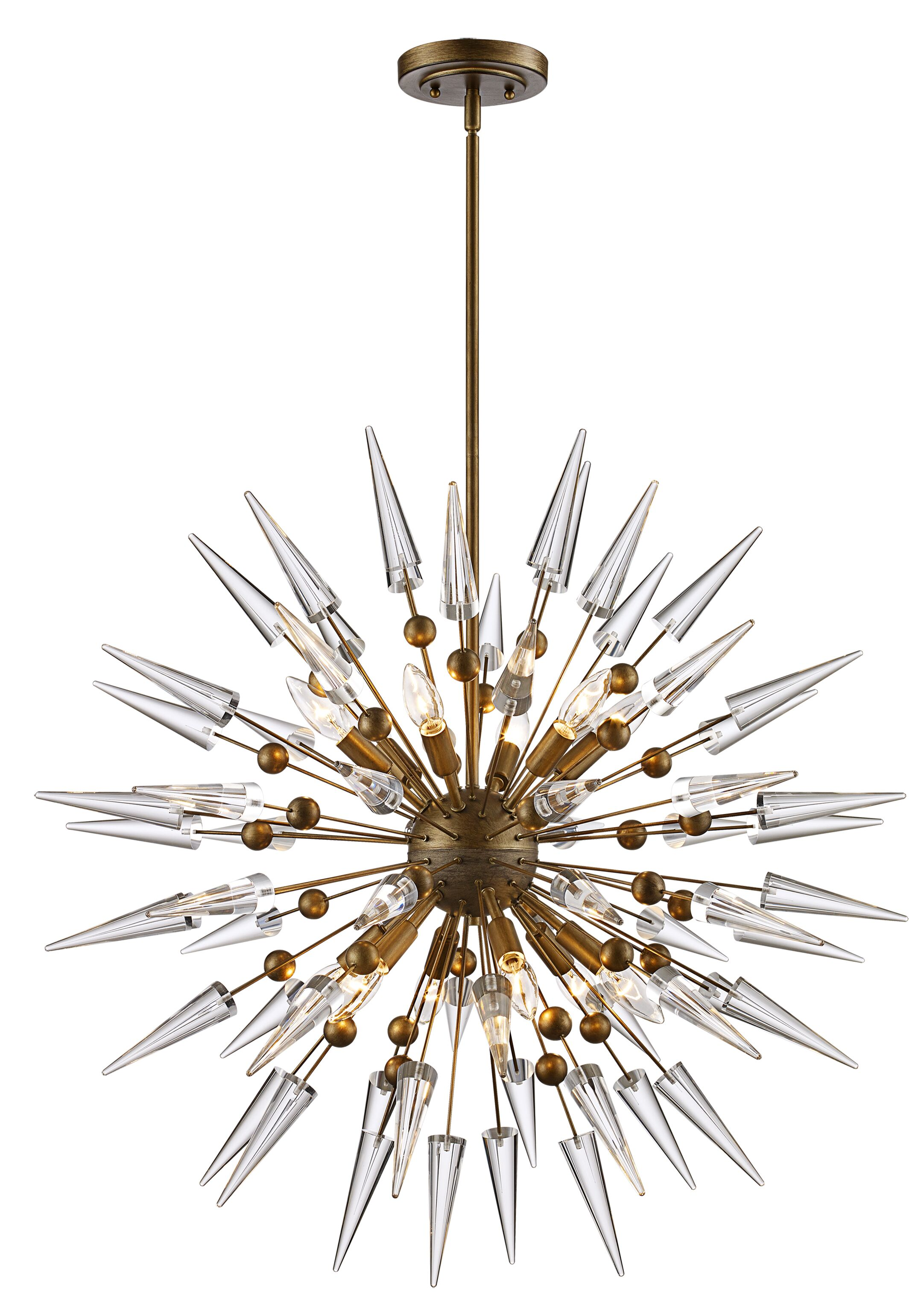 Gonnard 12-Light Globe Chandelier Finish: Antique Gold