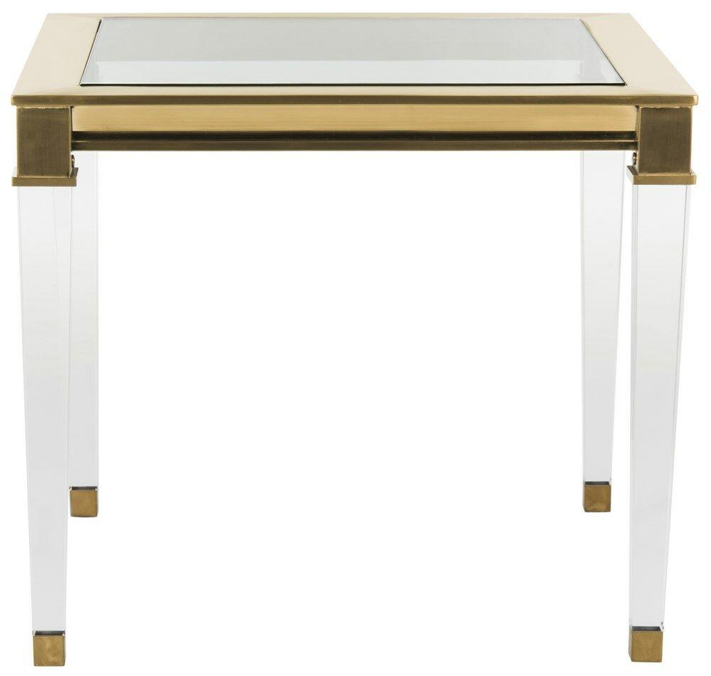 Florrie End Table Color: Gold