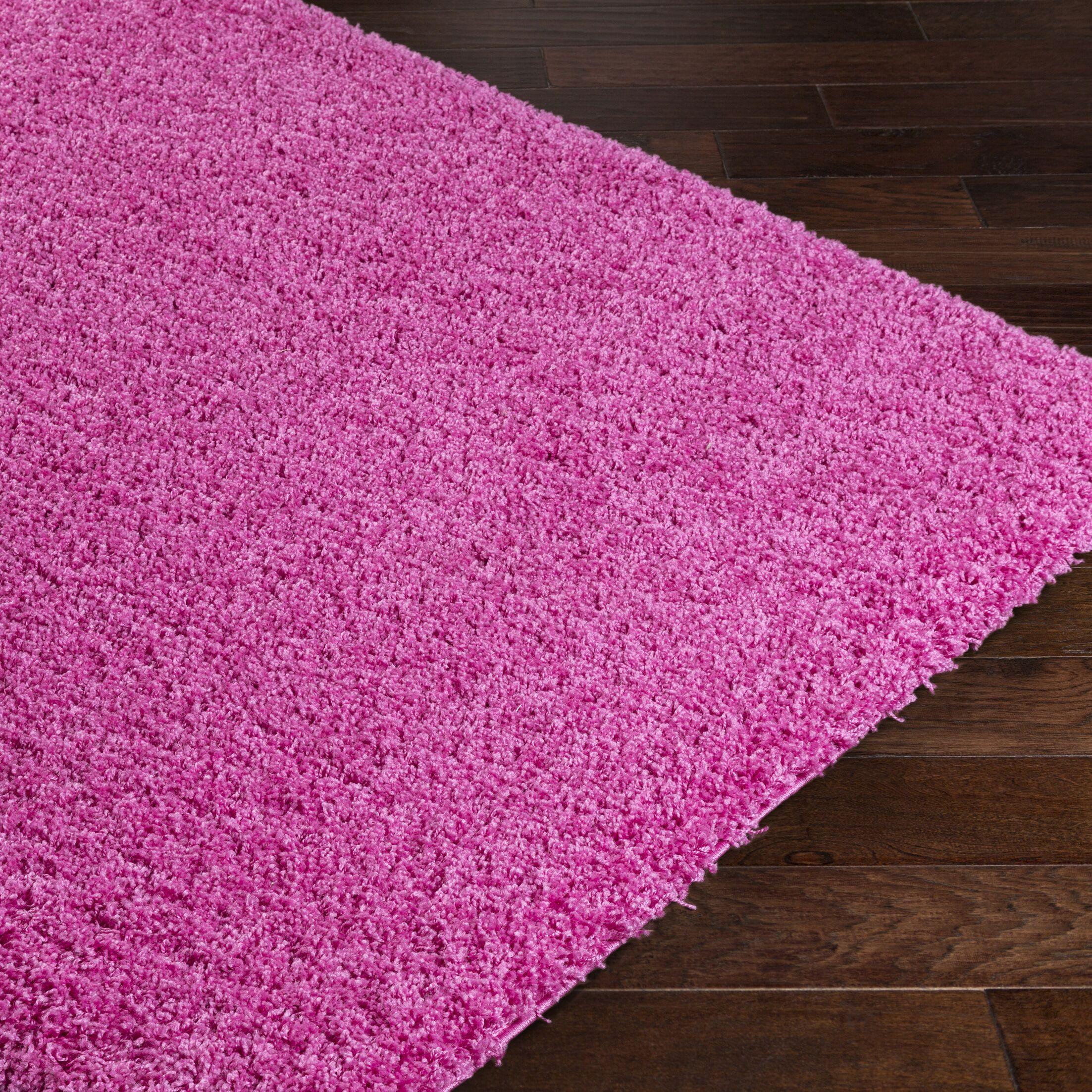 Roberto Pink Area Rug Rug Size: Rectangle 7'10