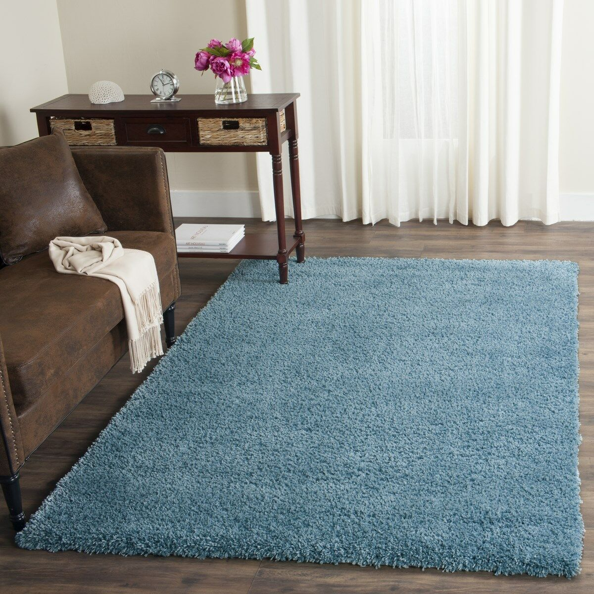 Demonte Shag Turquoise Area Rug Rug Size: Rectangle 8'6