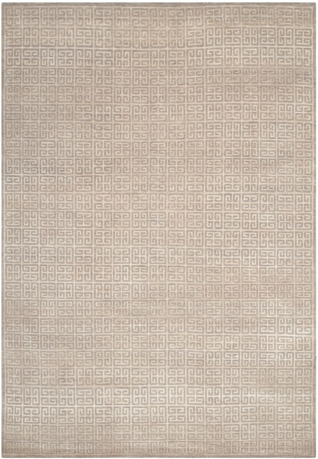 Zolder Hand-Knotted Gray Area Rug Rug Size: Rectangle 6' x 9'