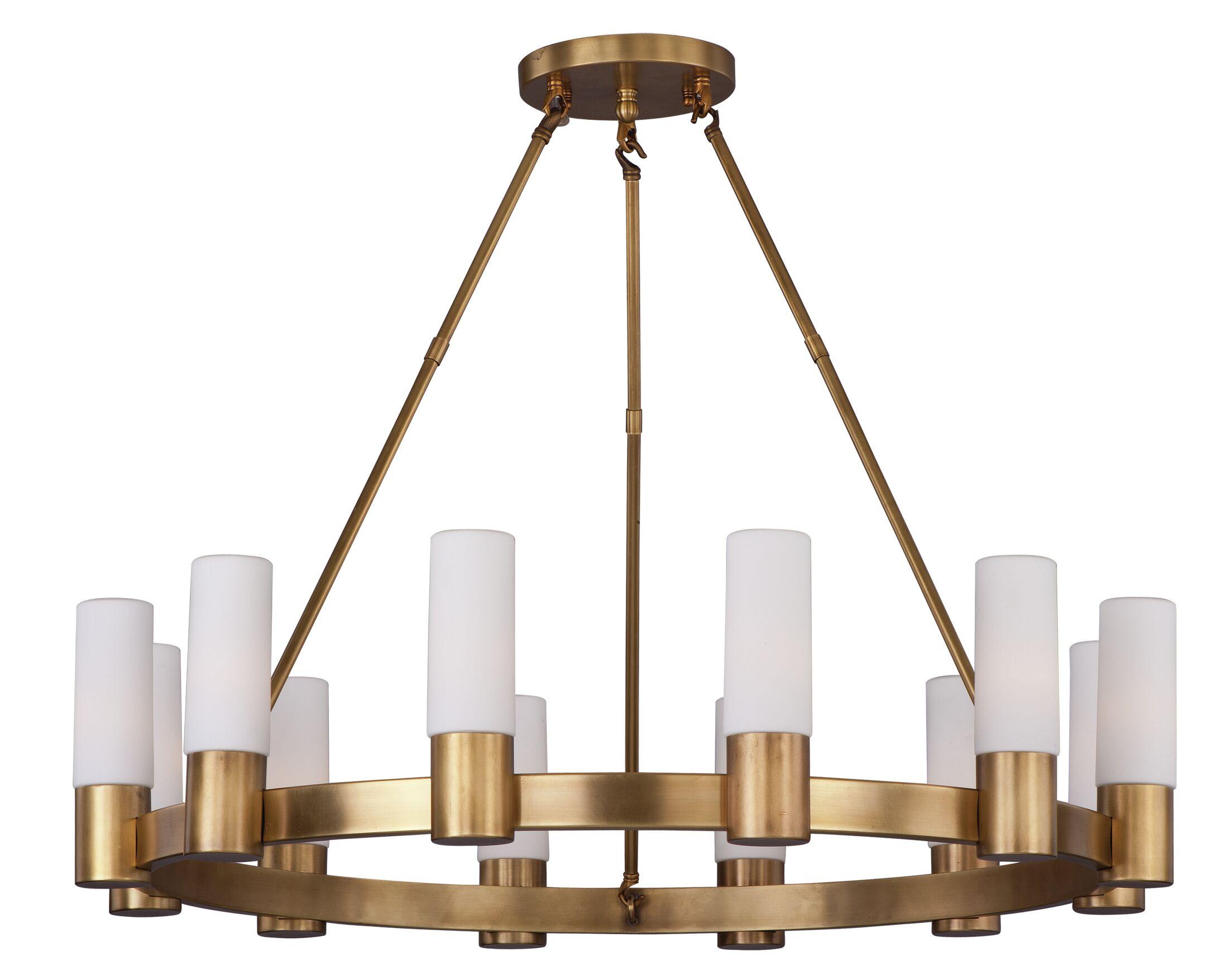 Roche 12-Light Shaded Chandelier