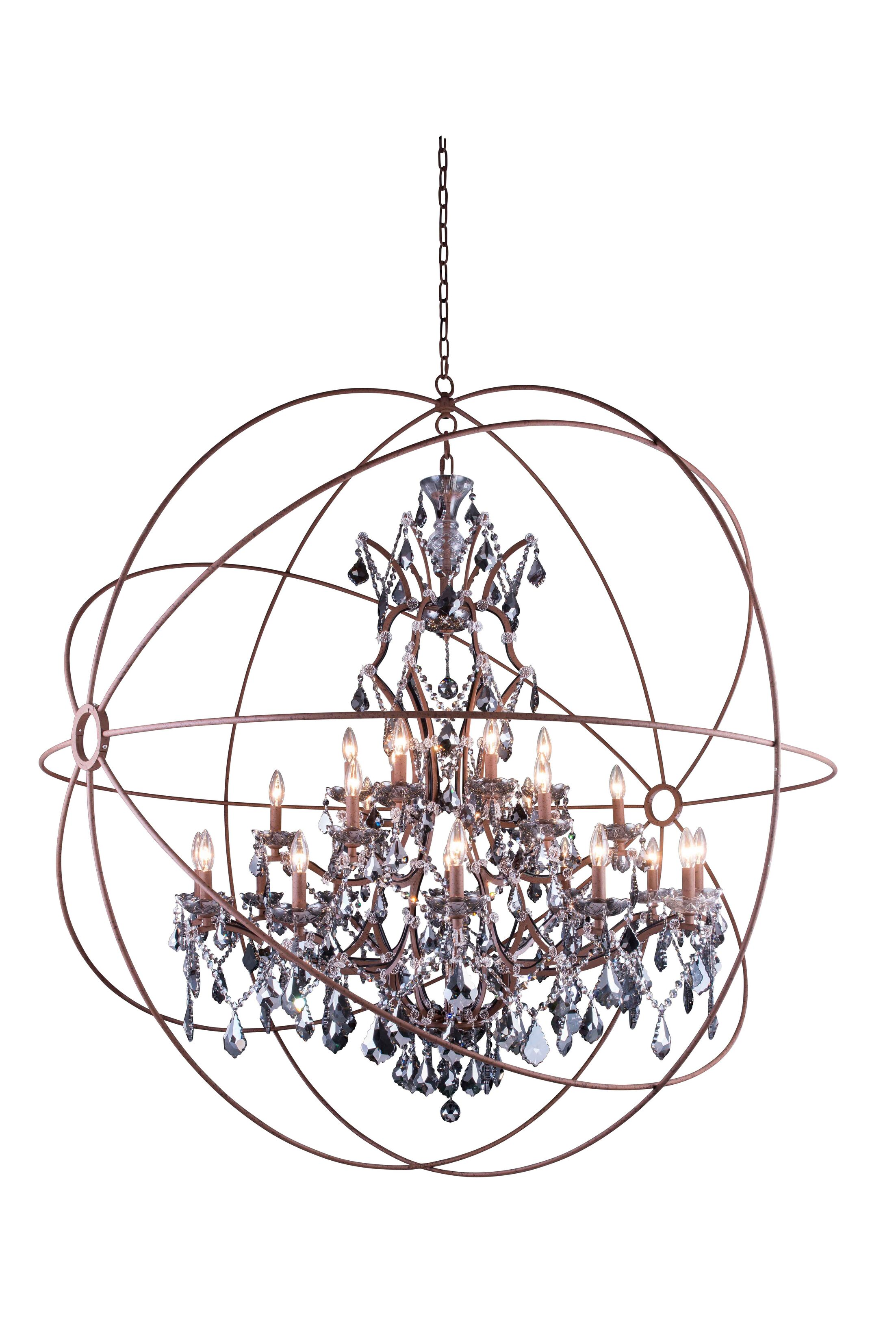 Svante 25-Light Globe Pendant Crystal: Crystal (Clear), Finish: Polished Nickel