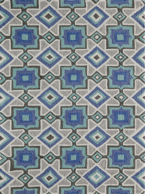 Anwen Hand-HookedIndigo Area Rug Rug Size: Rectangle 5' x 7'