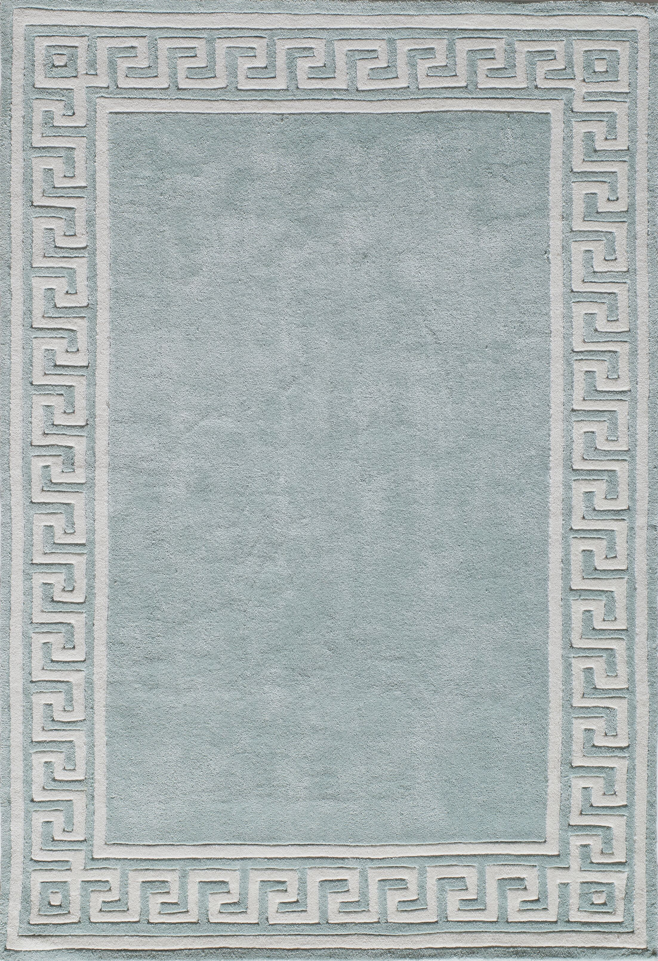 Finley Hand-Tufted Mint Area Rug Rug Size: Rectangle 3'6