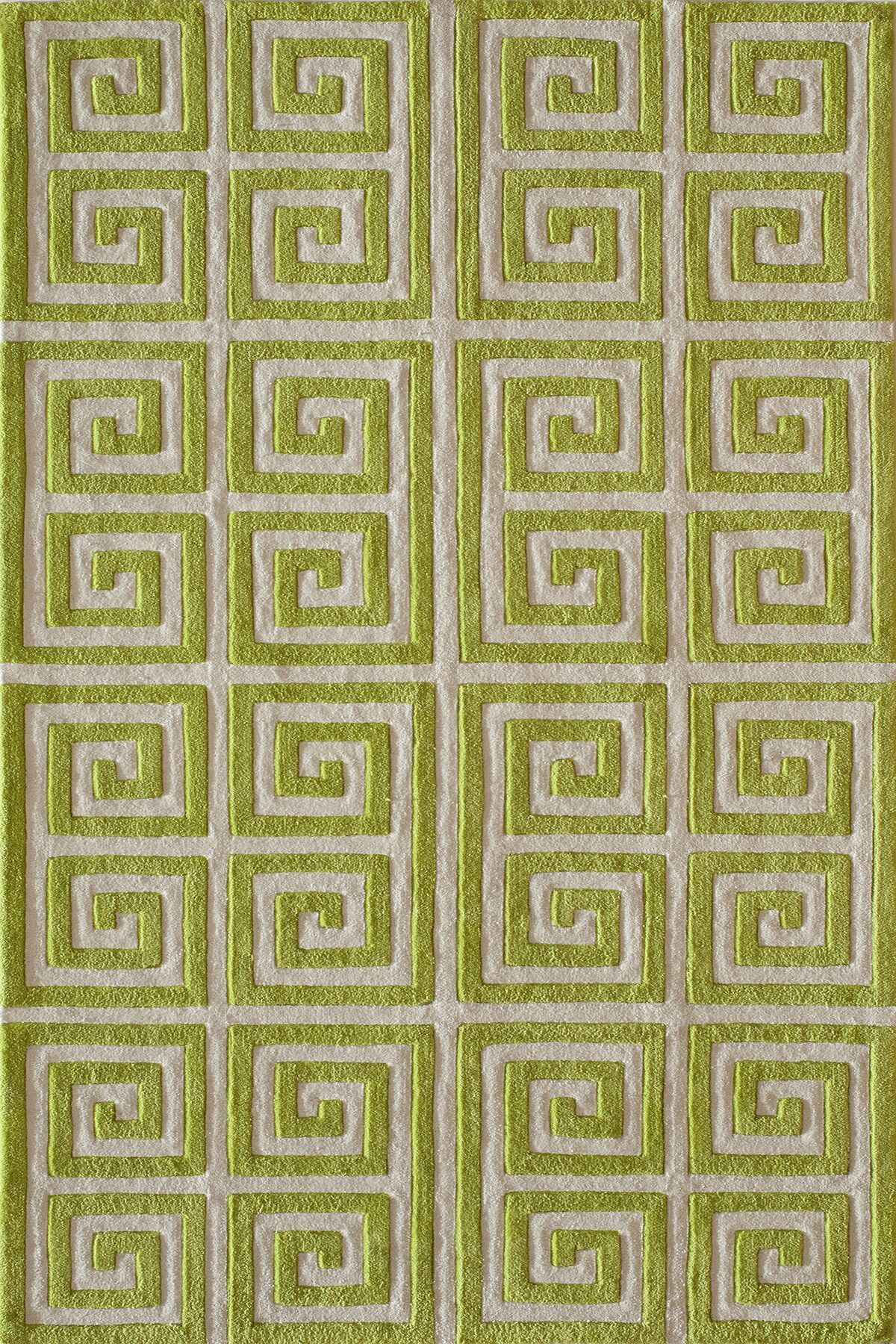 Finley Hand-Tufted Apple Green Area Rug Rug Size: Rectangle 5' x 7'6