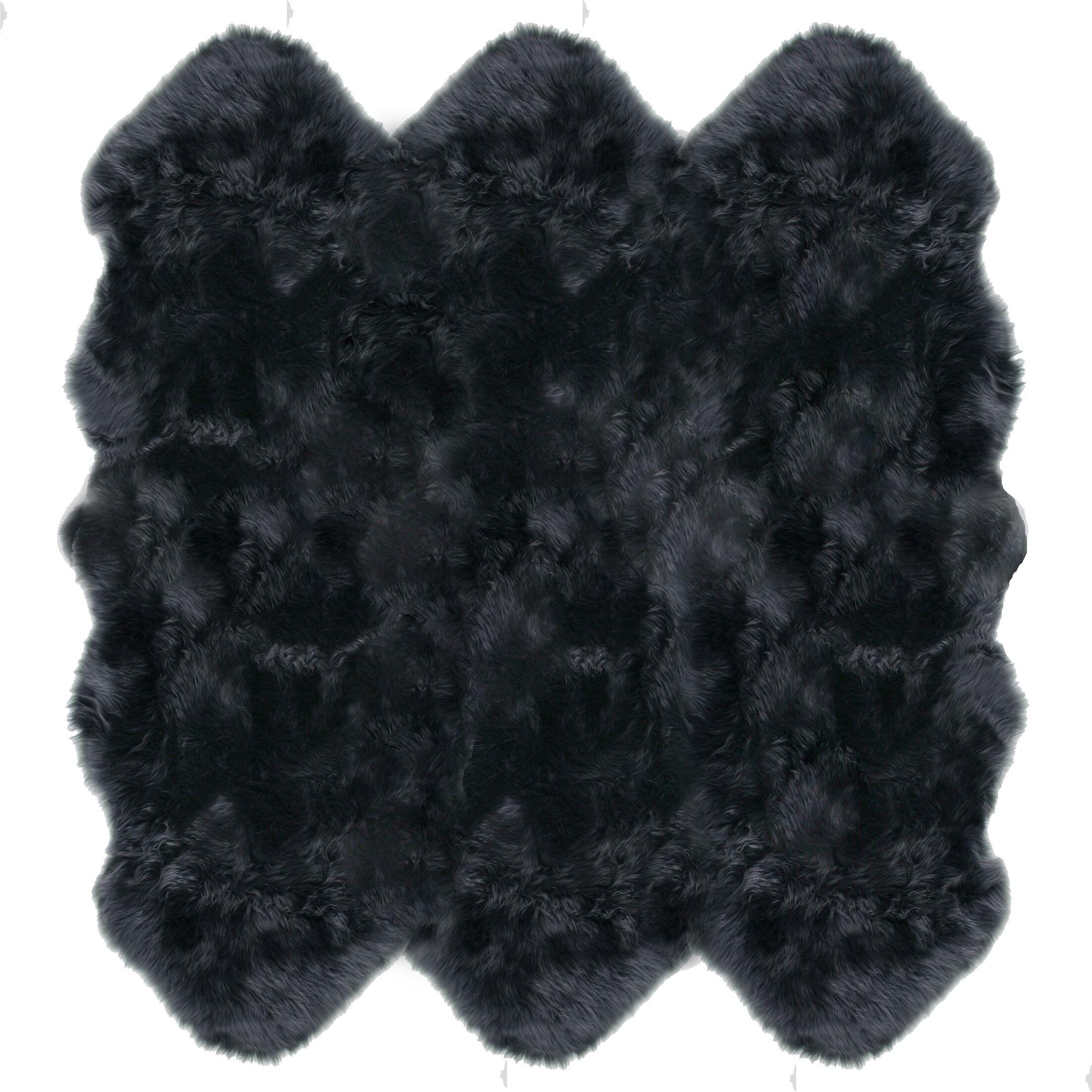 Christofor Sheepskin Steel Area Rug Rug Size: Sexto 6' x 6'
